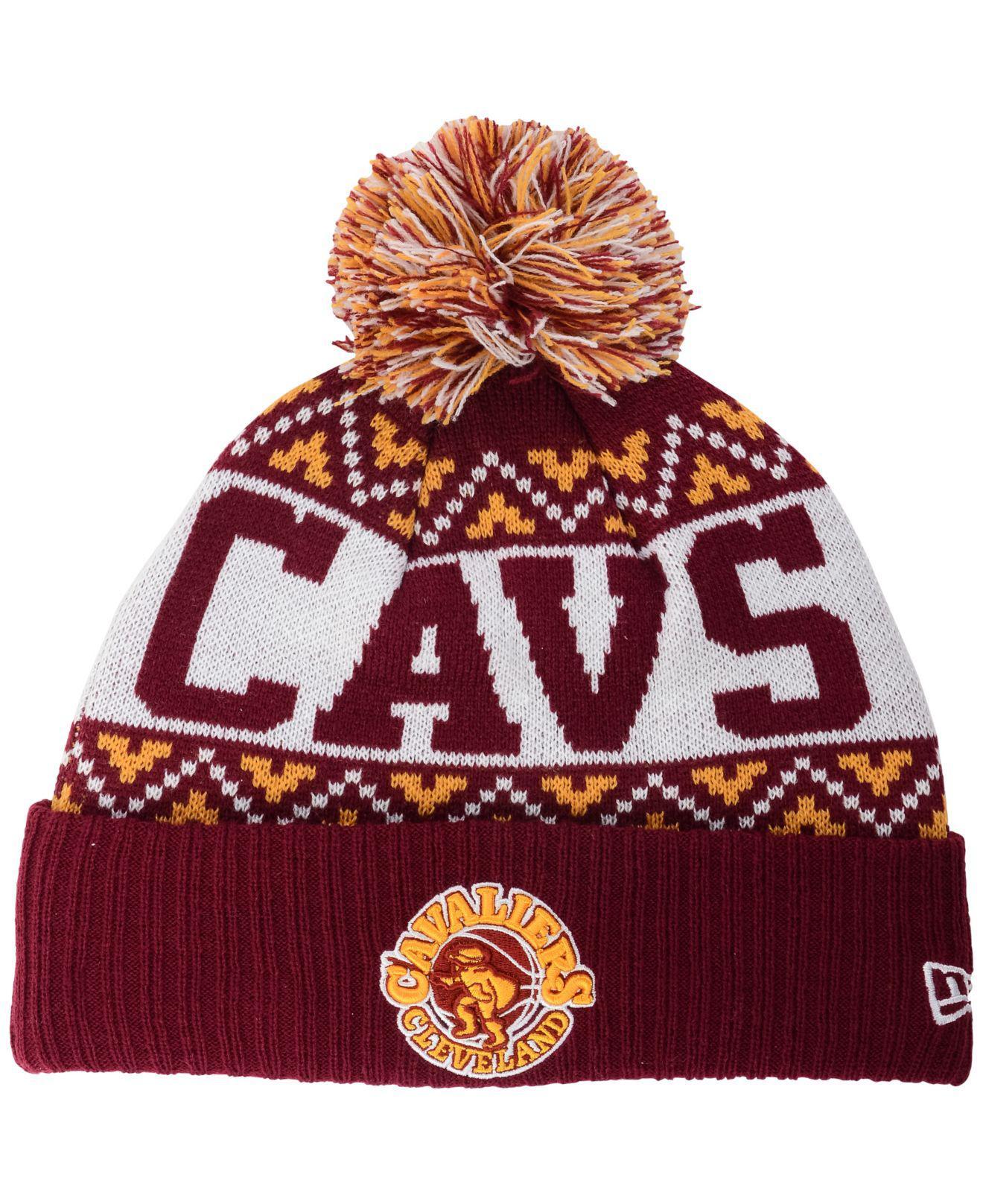 943f0eef421cdb KTZ - Purple Cleveland Cavaliers Biggest Christmas Knit Hat for Men - Lyst