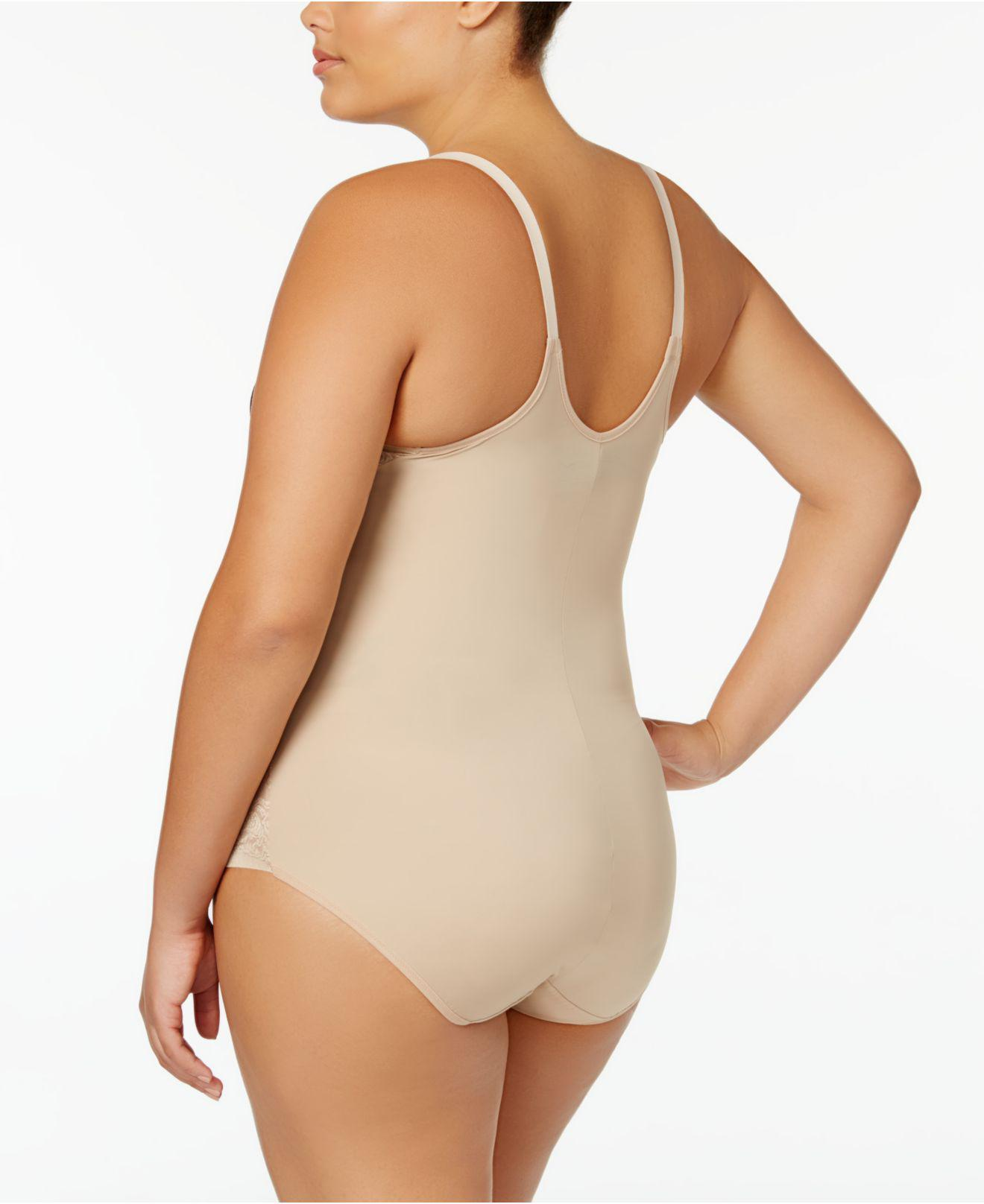 e7ad2c6ea3b Lyst - Maidenform Firm Foundations Curvy Plus Size Firm Control Wear Your  Own Bra Body Shaper Dm1025 in Natural