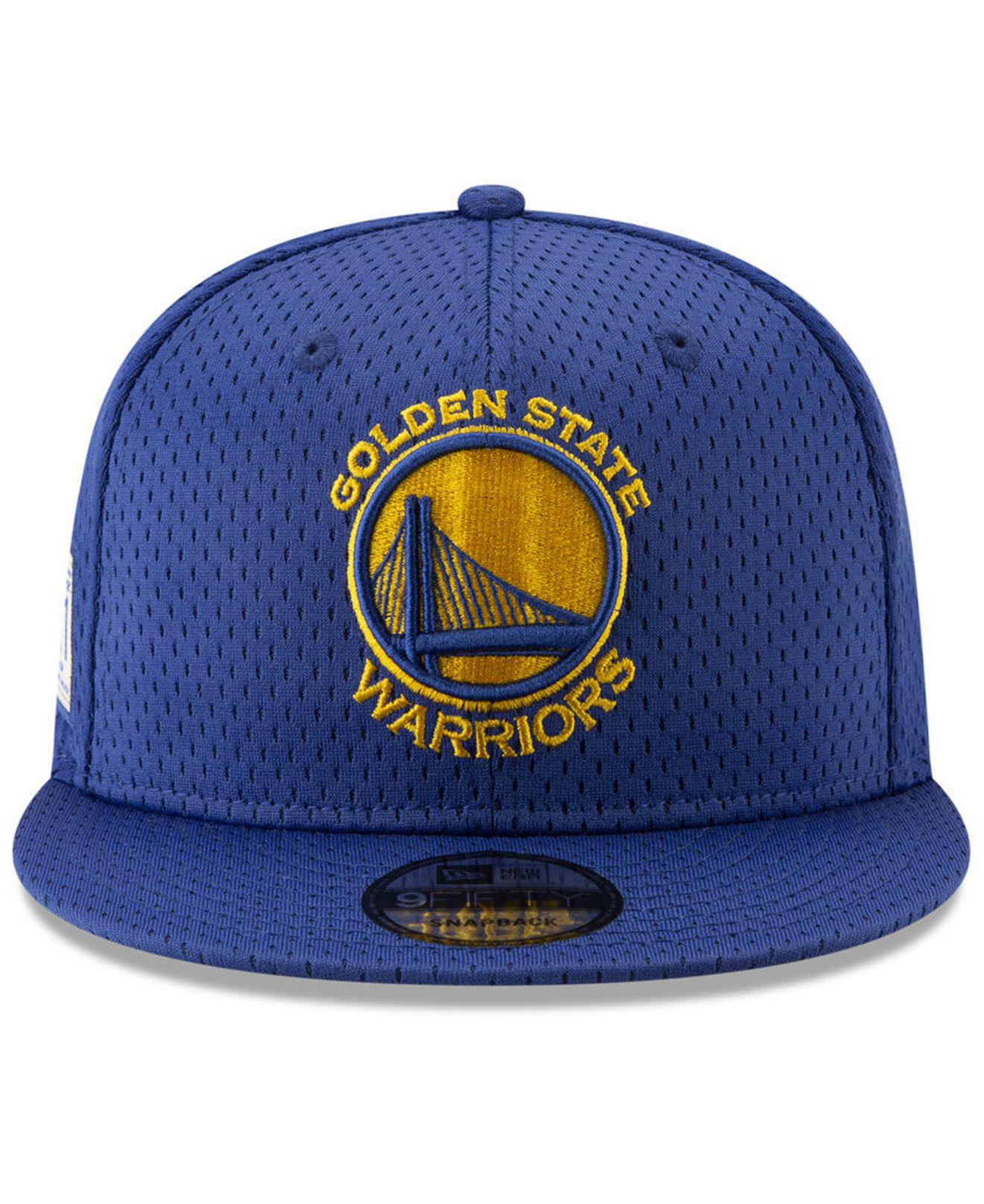 size 40 c16be 98c91 Lyst - KTZ Golden State Warriors Jock Tag 9fifty Snapback Cap in Blue for  Men