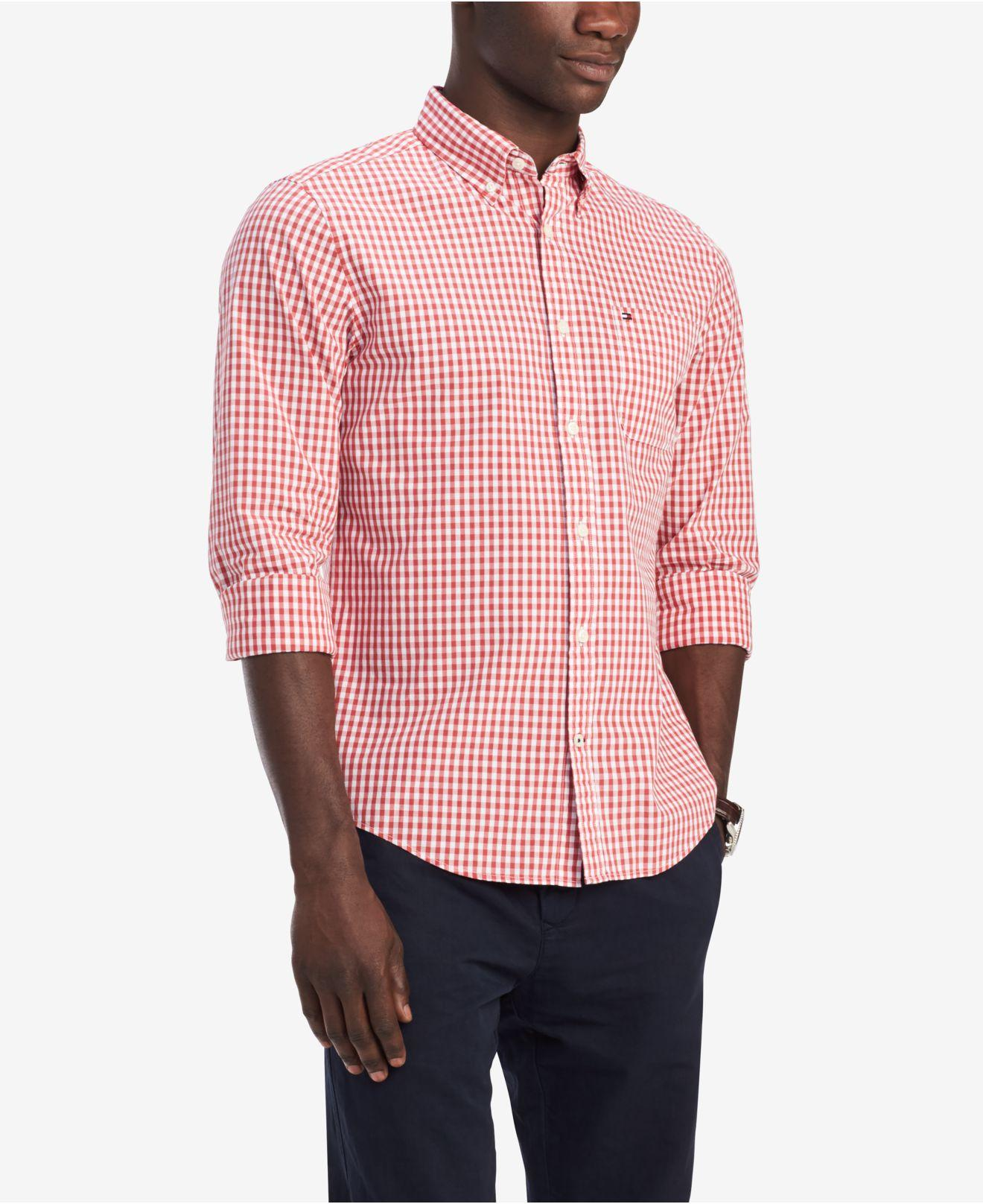 ca2536bf Lyst - Tommy Hilfiger Classic-fit Twain Gingham Shirt, Created For ...