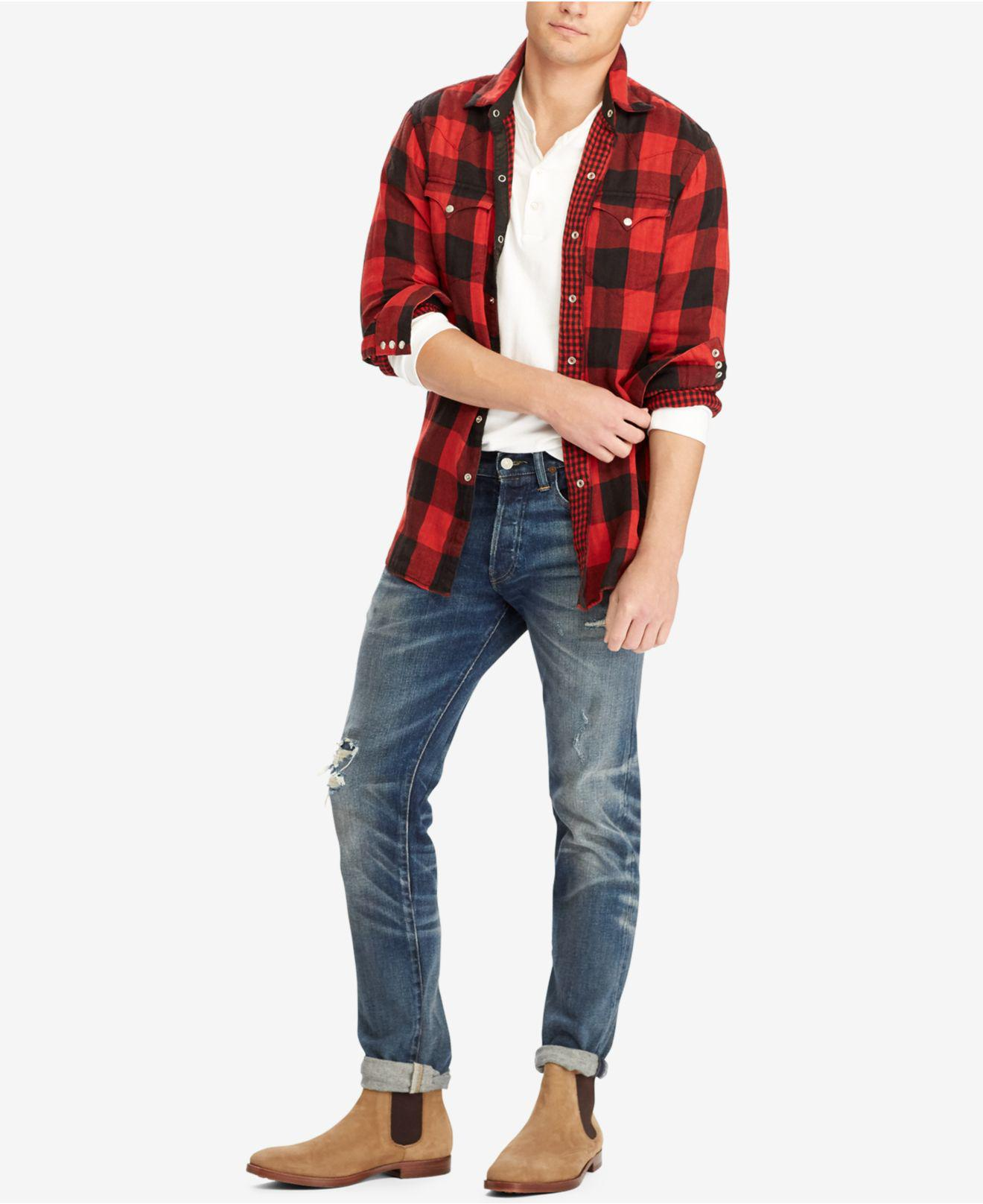 d0b807cd7 Polo Ralph Lauren Men's Iconic Flannel Shirt in Red for Men - Lyst