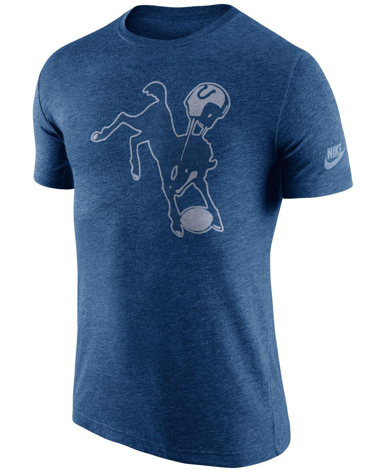 Lyst - Nike Men s Indianapolis Colts Historic Logo T-shirt in Blue ... b17a33e36