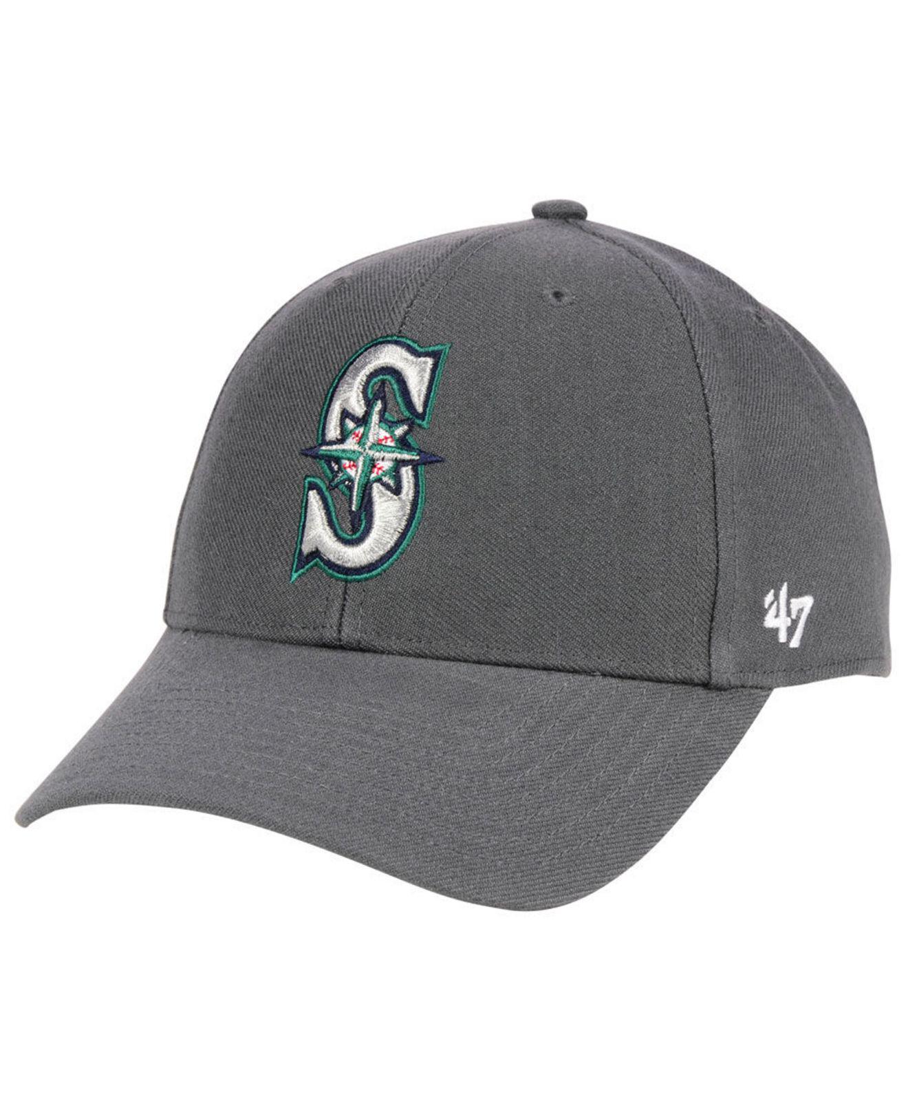 new style 5c271 4b15f 47 Brand. Men s Gray Seattle Mariners Charcoal Mvp Cap