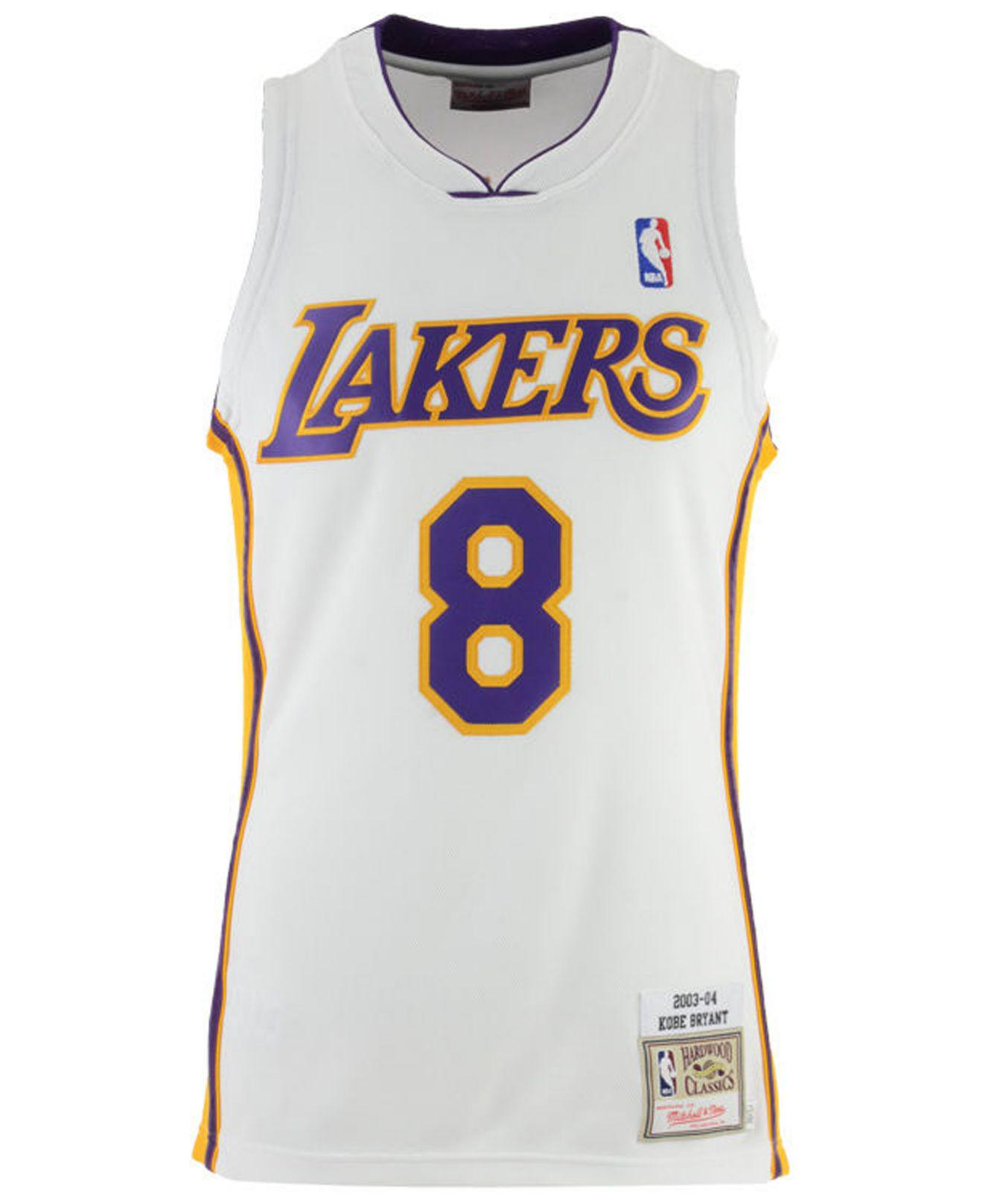 e3262dec6 Lyst - Mitchell   Ness Kobe Bryant Los Angeles Lakers Authentic Jersey in  White for Men