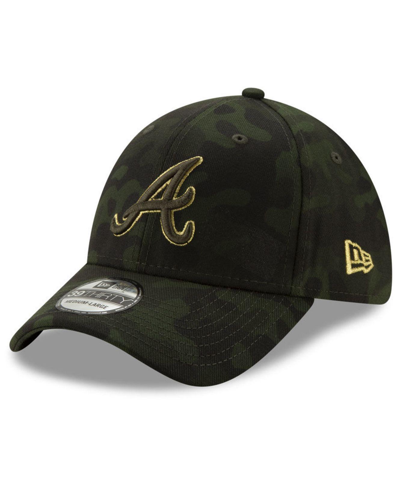 new concept 7d8c7 6532e KTZ - Green Atlanta Braves Armed Forces Day 39thirty Cap for Men - Lyst. View  fullscreen