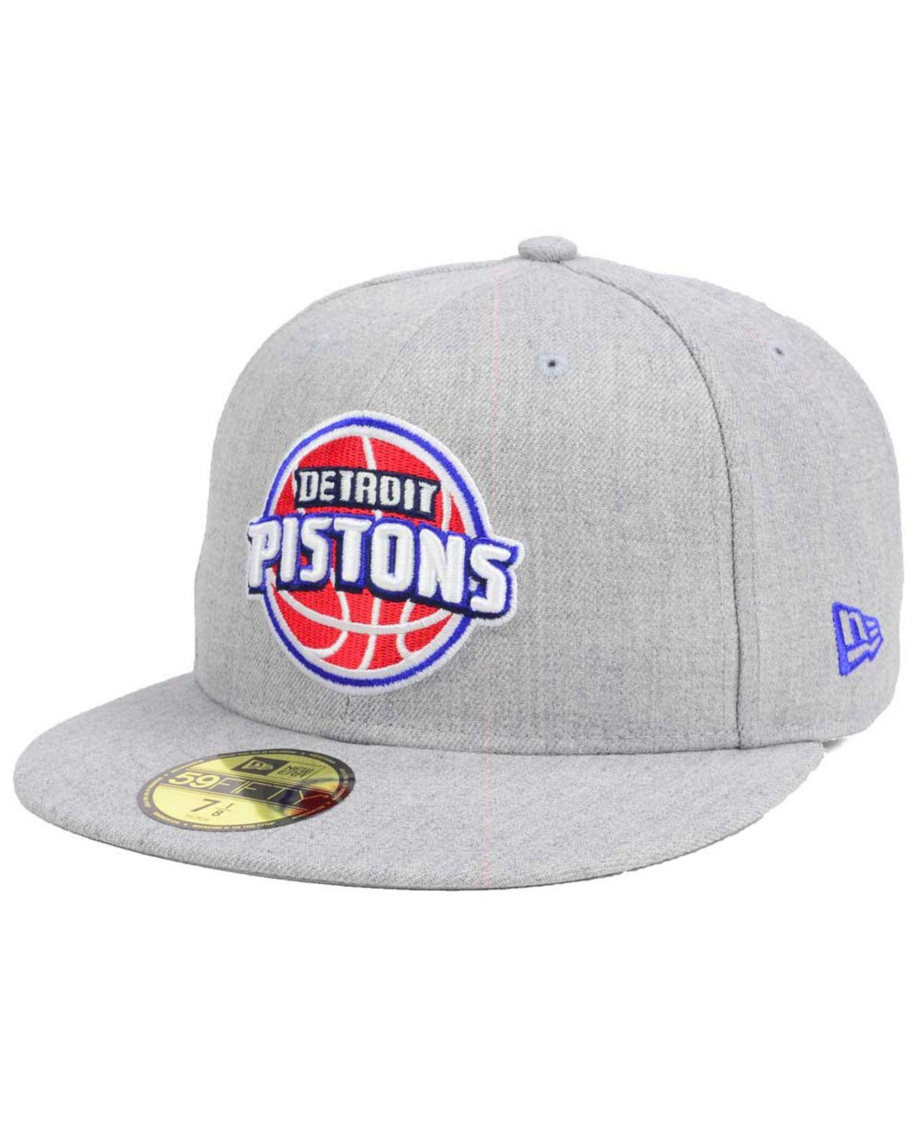 premium selection 48a98 2063a Lyst - Ktz Detroit Pistons All Heather 59fifty Cap in Gray for Men