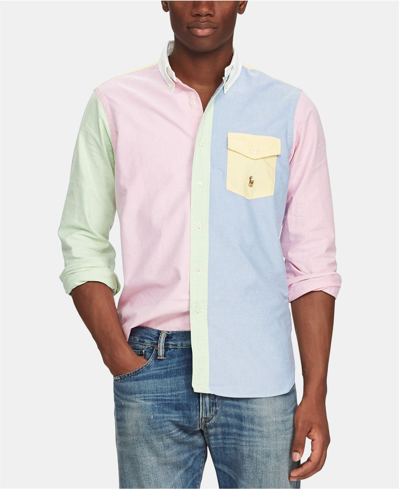 69643e3b328 Lyst - Polo Ralph Lauren Classic Fit Oxford Fun Shirt in Blue for Men