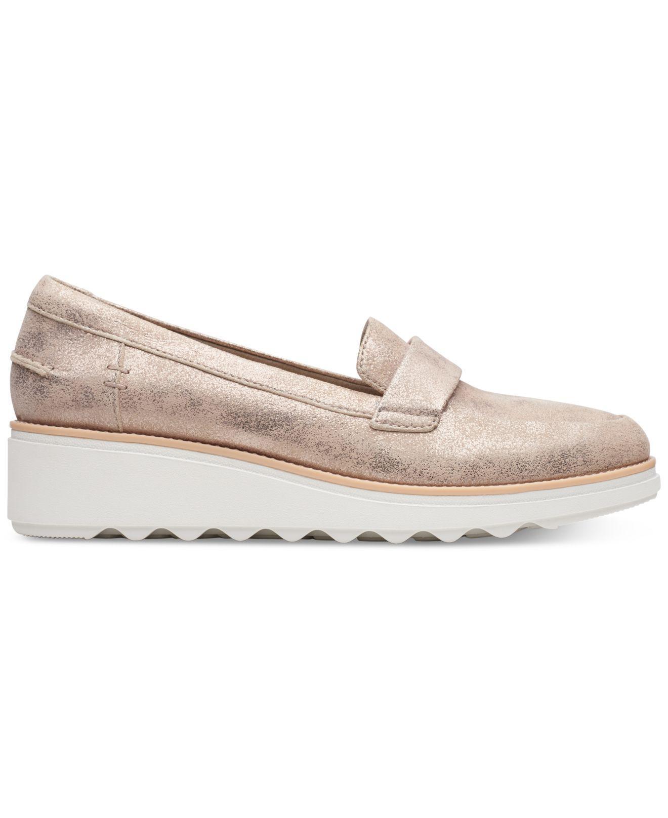 e47809ee34fe Lyst - Clarks Sharon Gracie Platform Loafers