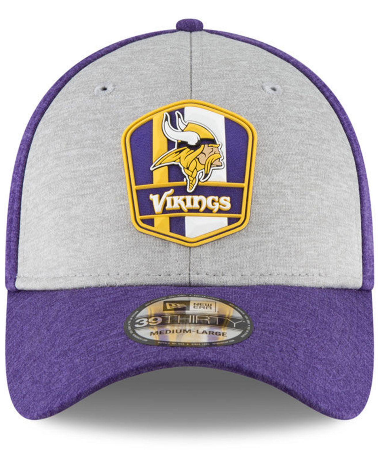 Lyst - KTZ Minnesota Vikings On Field Sideline Road 39thirty Stretch Fitted  Cap in Purple for Men eefc966c6