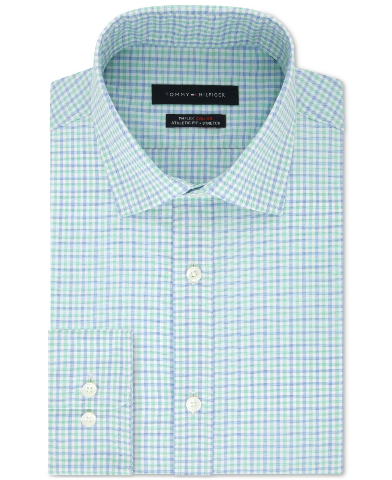 ebb7cdb0 Tommy Hilfiger - Multicolor Th Flex Fitted Non-iron Stretch Check Dress  Shirt for Men. View fullscreen