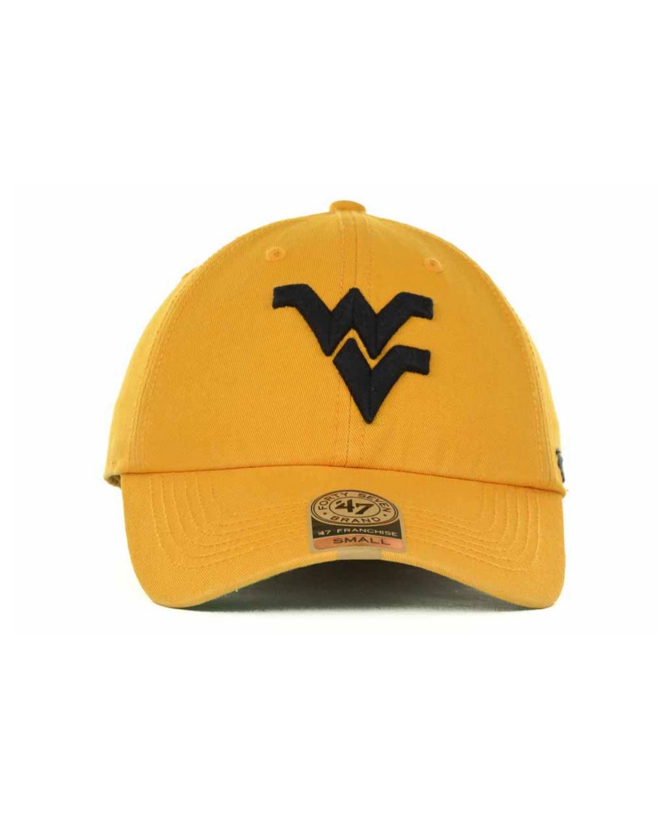 c9c3b7d07055c Lyst - 47 Brand West Virginia Mountaineers Franchise Cap in Metallic for Men