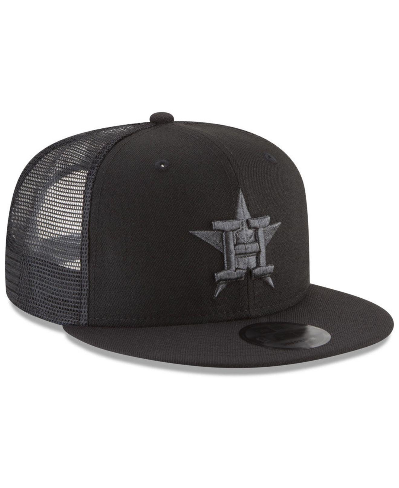info for 77c1f 24e06 ... discount code for lyst ktz houston astros blackout mesh 9fifty snapback  cap in black f6493 7f423