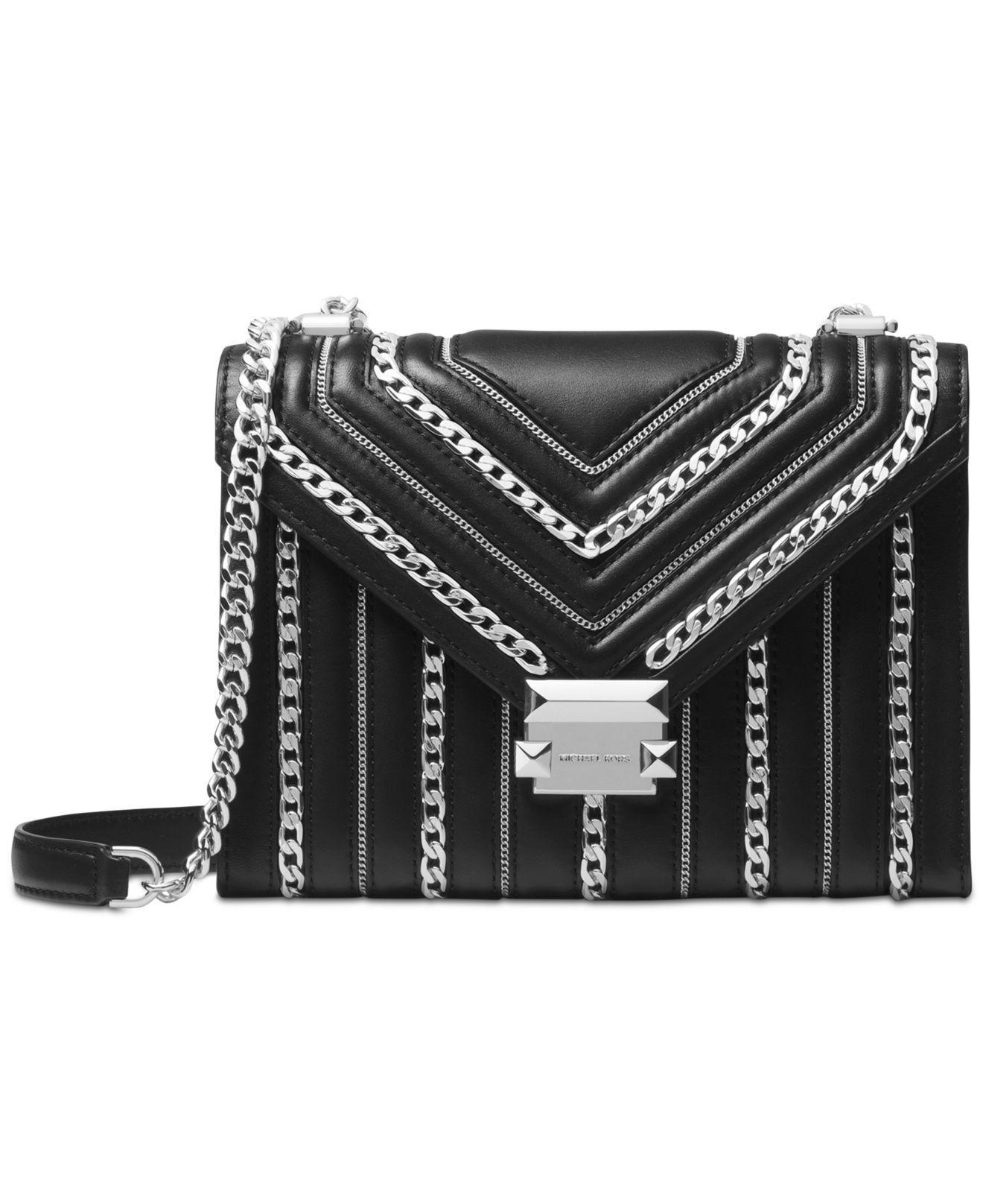 e9d35a52029d3 Michael Kors. Women s Black Michael Whitney Limited Edition Chain Inlay Shoulder  Bag