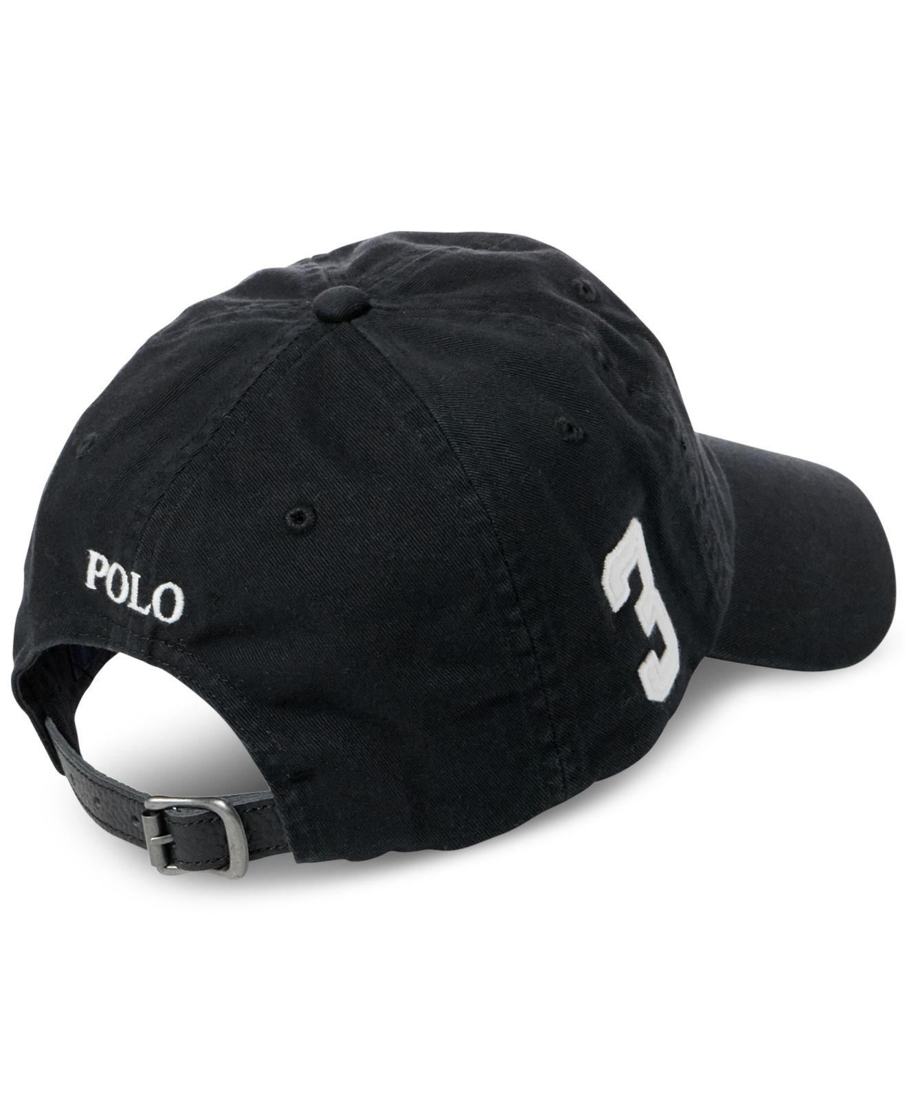 57b522ee823 Lyst - Polo Ralph Lauren Logo Baseball Cap in Black for Men - Save 51%