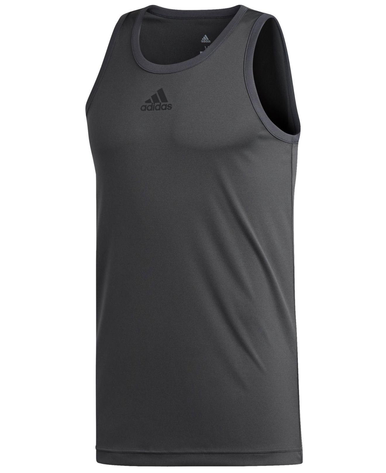 cf37949ea5319 Adidas - Gray Basketball Tank Top for Men - Lyst. View fullscreen
