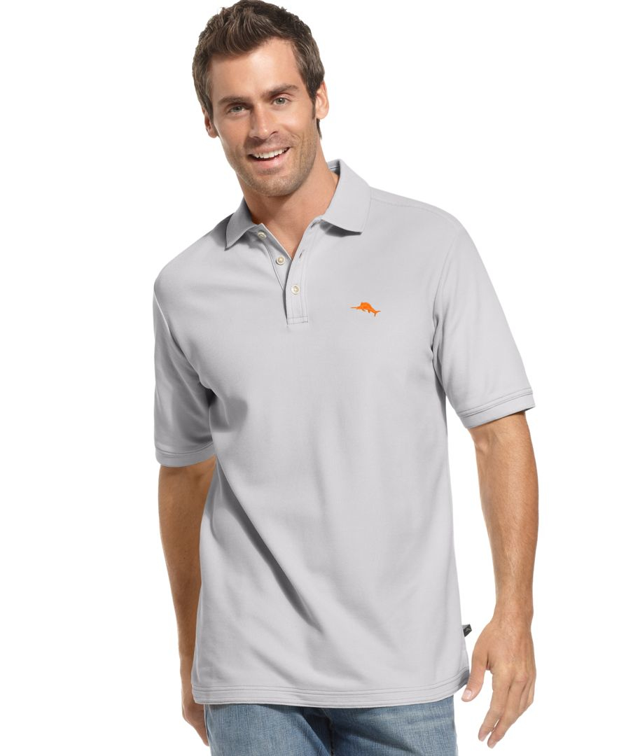 Tommy bahama men 39 s shirt emfielder polo shirt in gray for for Tommy bahama polo shirts on sale
