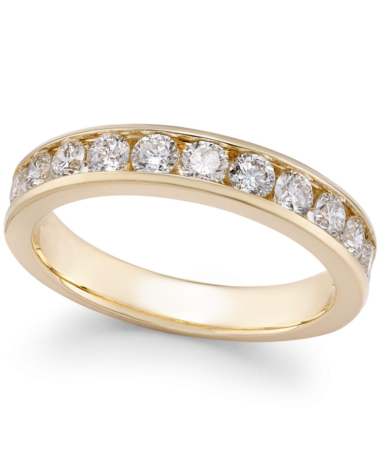 Macy s Diamond Channel set Band 2 Ct T w In 14k Gold White Gold in