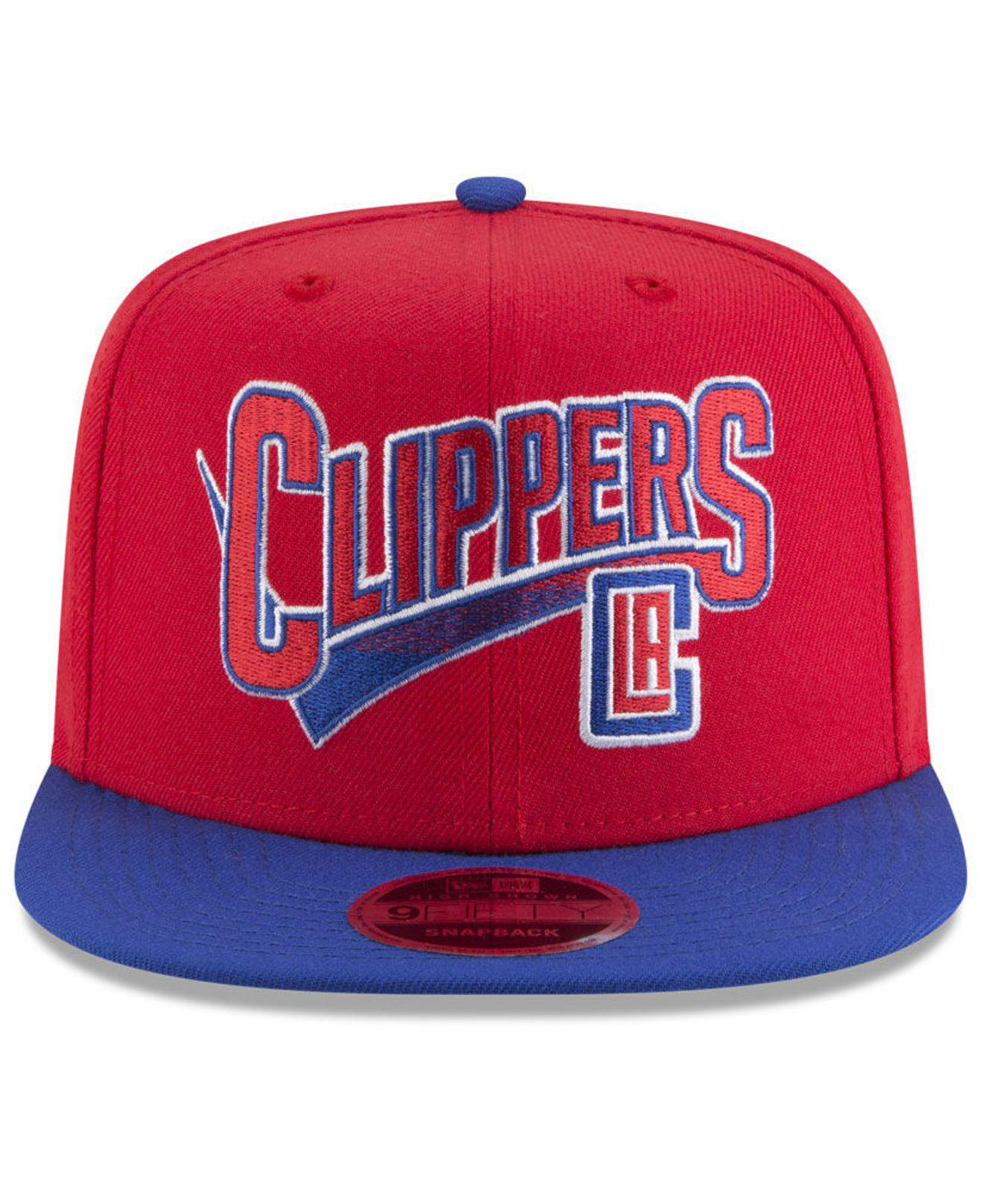 new arrivals b619c b10a7 Lyst - KTZ Los Angeles Clippers Retro Tail 9fifty Snapback Cap in Red for  Men