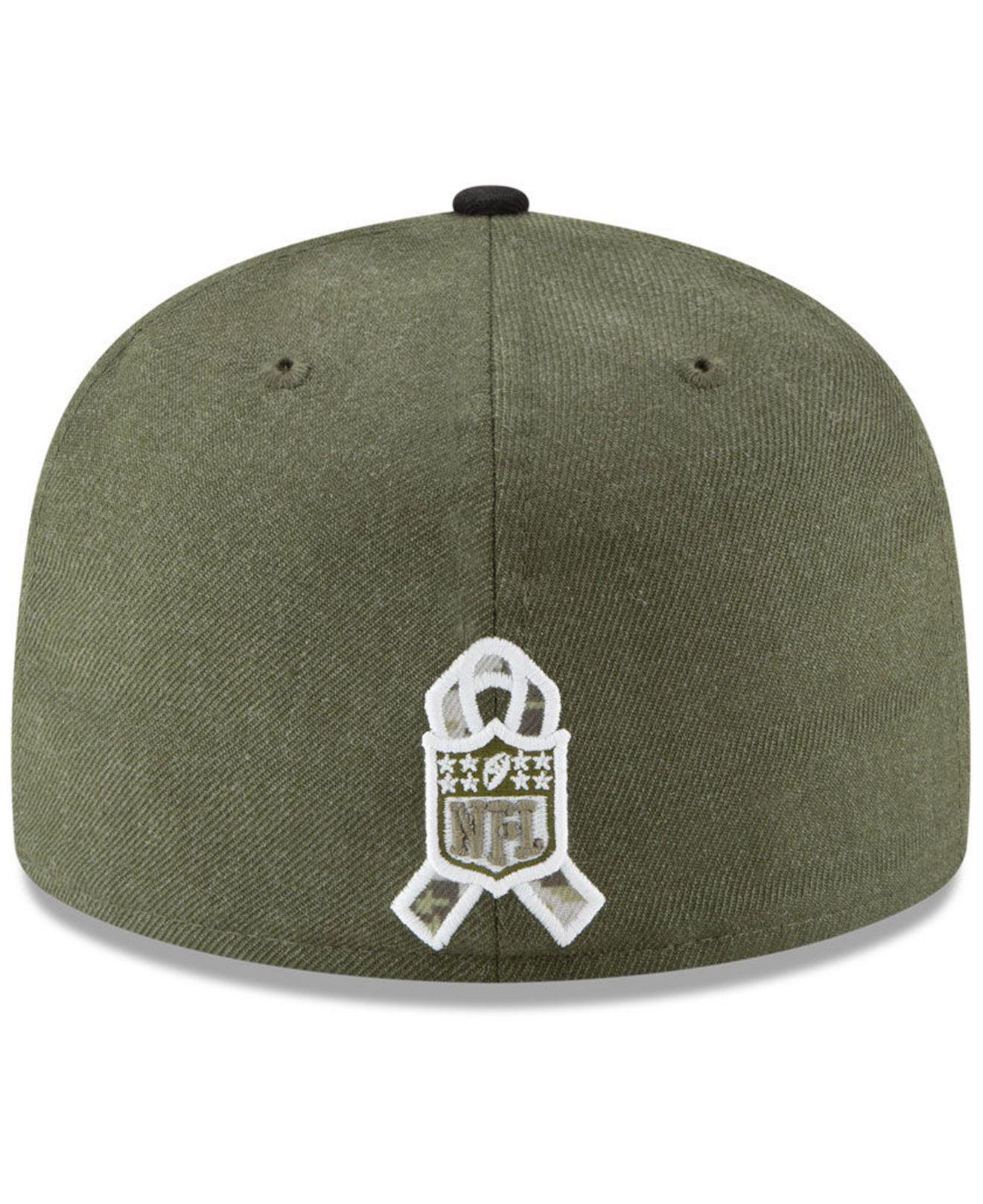KTZ - Green New Orleans Saints Salute To Service 59fifty Fitted Cap for Men  - Lyst. View fullscreen aee6a7e4f