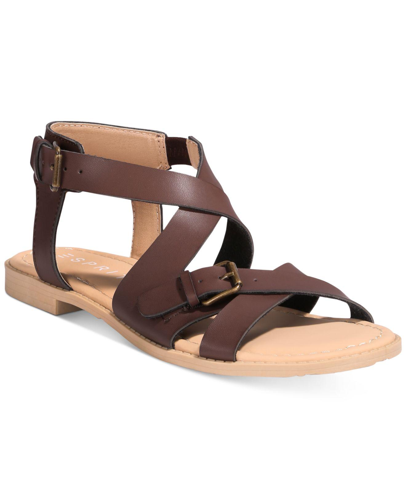 Lyst Esprit Sunny Strappy Sandals In Brown