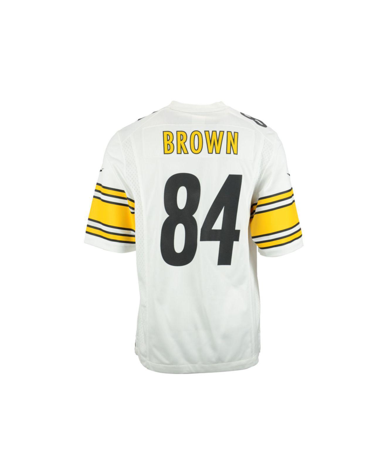 56679b103 Lyst - Nike Men s Antonio Brown Pittsburgh Steelers Game Jersey in ...