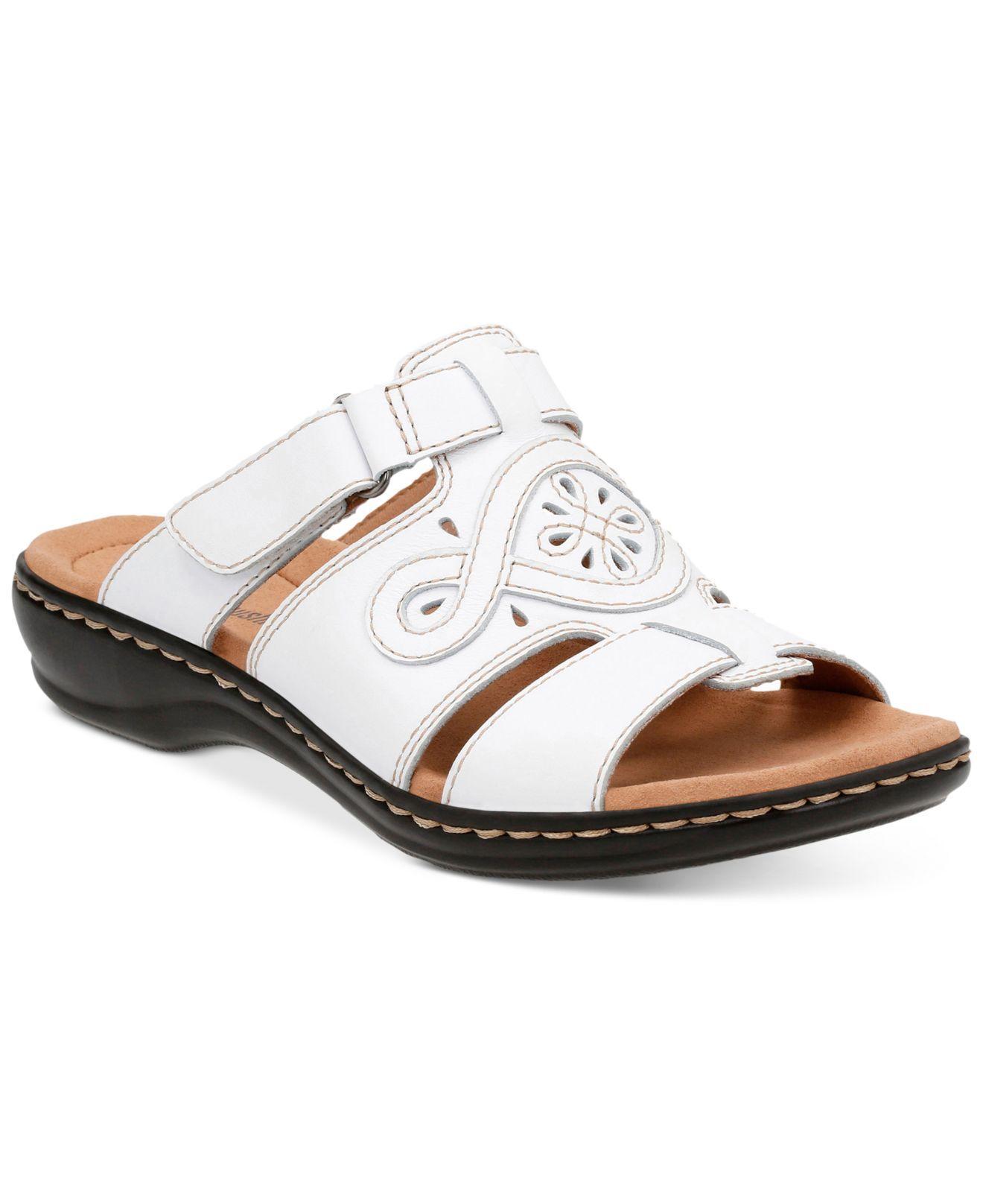 Clarks Women's Leisa Higley Flat Sandals In White