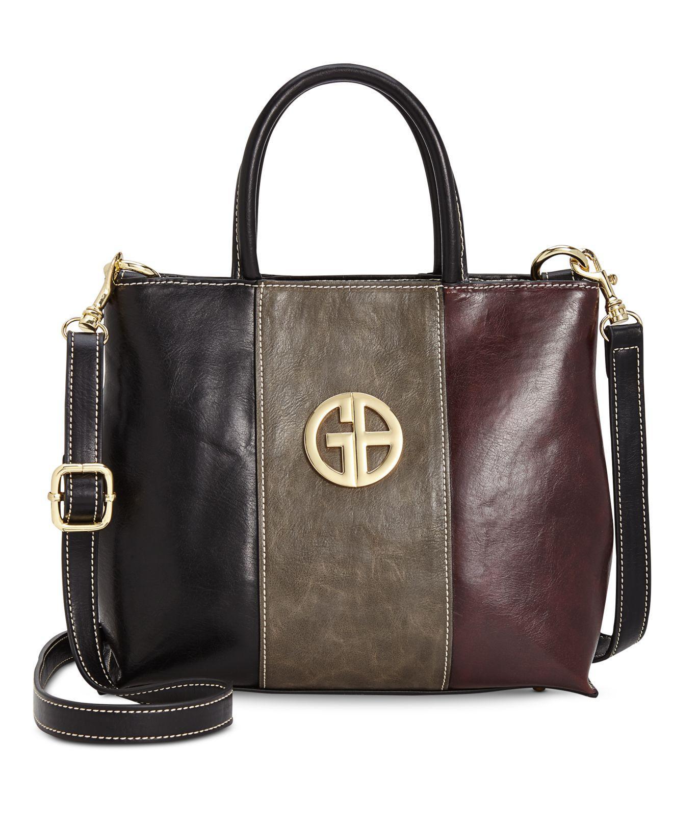 Giani Bernini. Women s Black Tricolor Glazed Bucket Bag ...