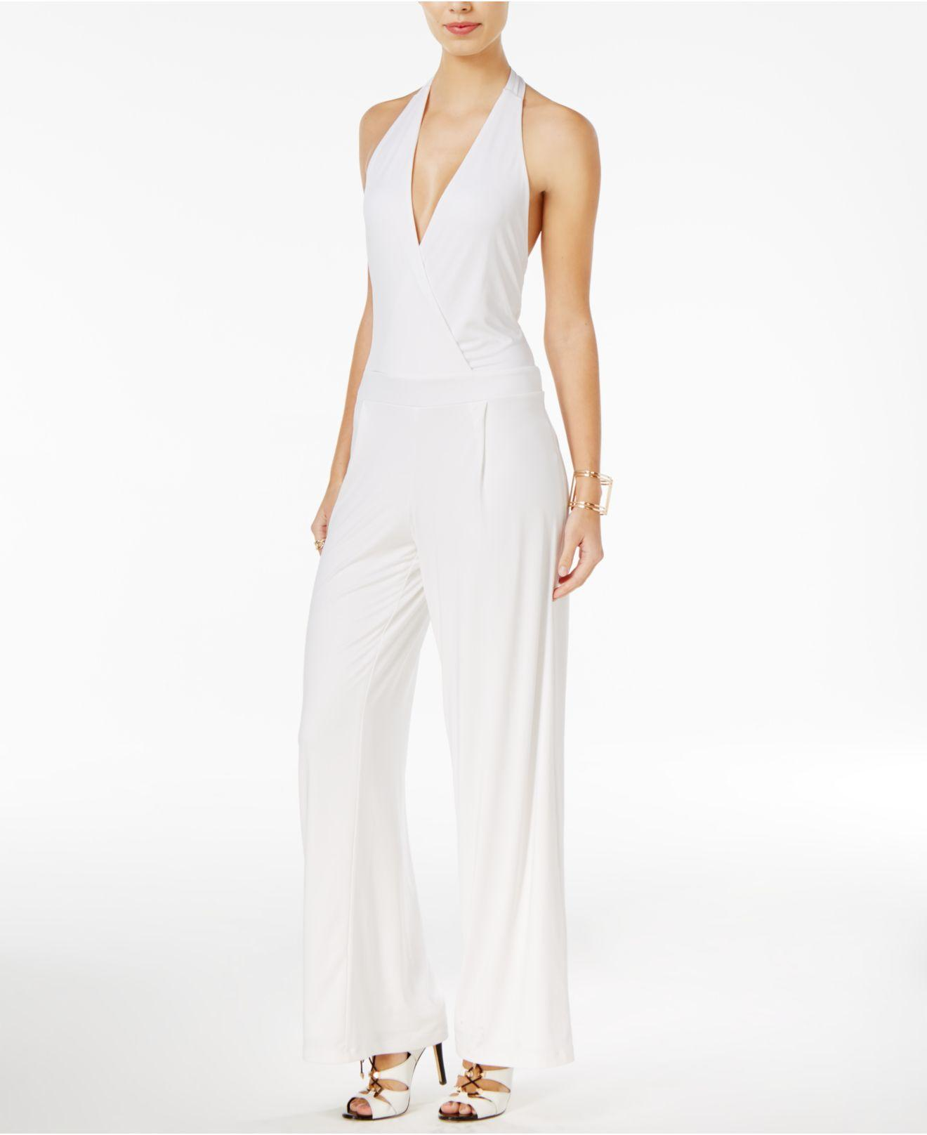 072cbfd717f0 Lyst - Guess Roswell Open-back Off-the-shoulder Jumpsuit in White