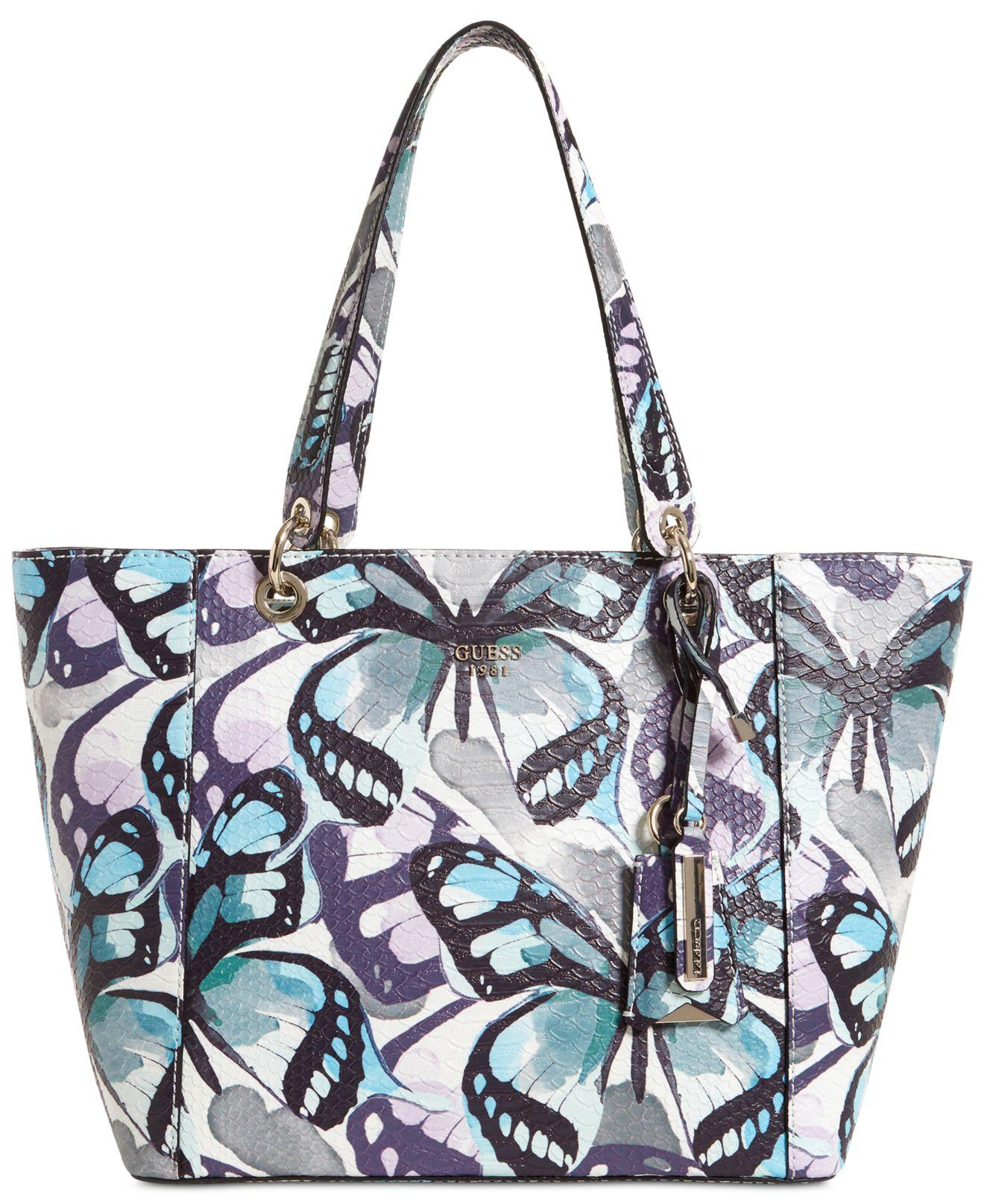 Lyst - Guess Butterfly Kamryn Extra-large Tote ad3cb0eb8347c