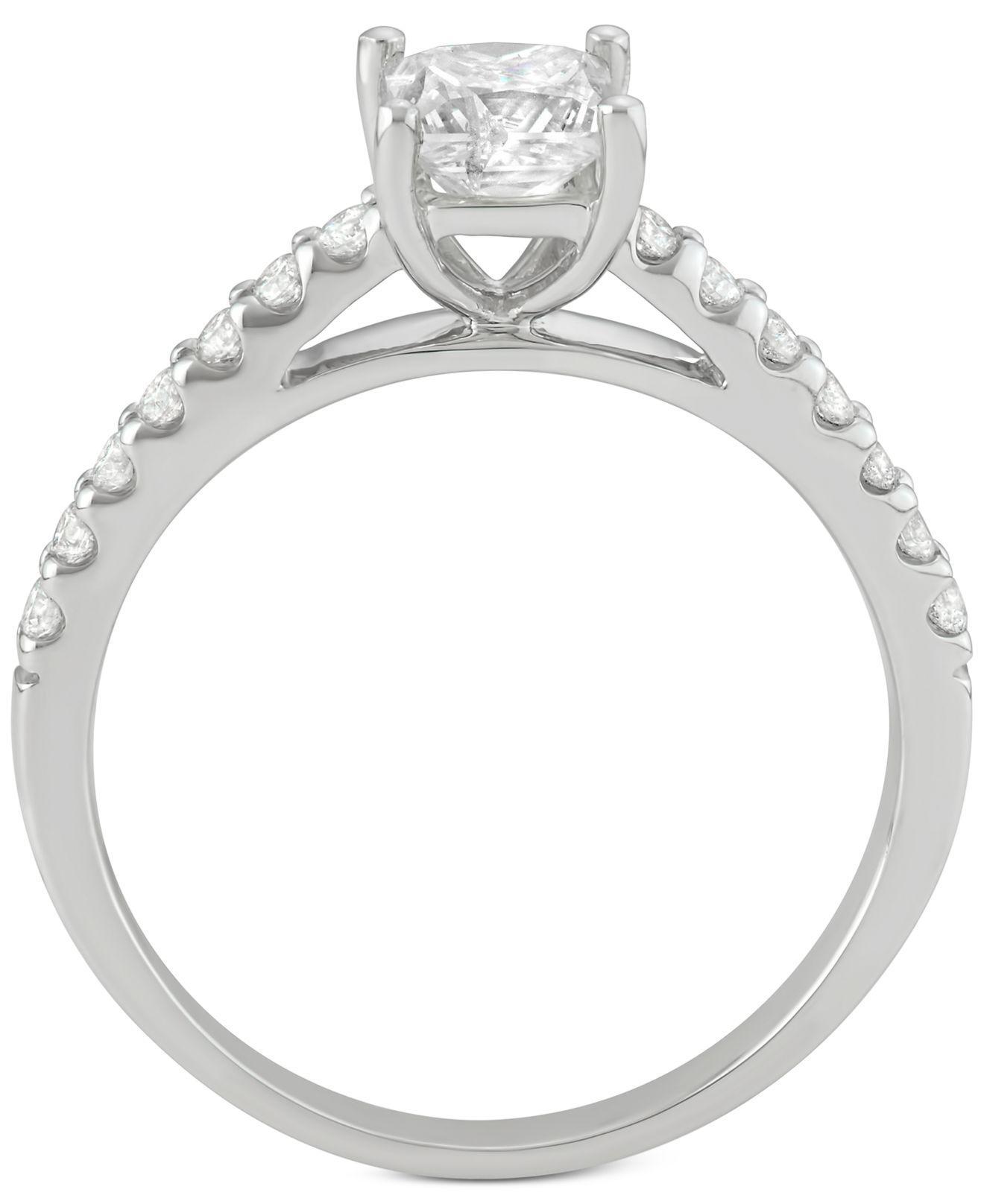 Macy s Diamond Princess Bridal Set 1 1 4 Ct T w In 14k White
