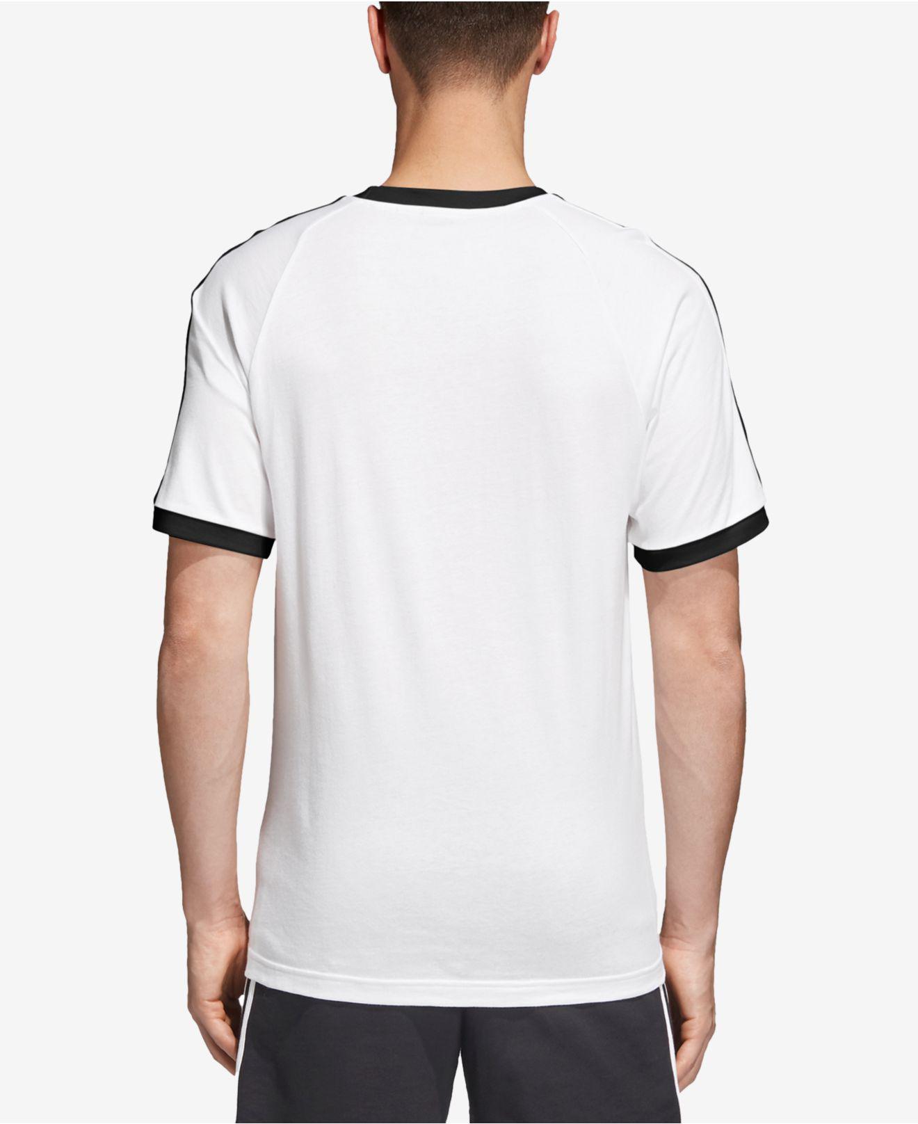 dea694ff3 Lyst - adidas California 3-stripes T-shirt in White for Men - Save 26%