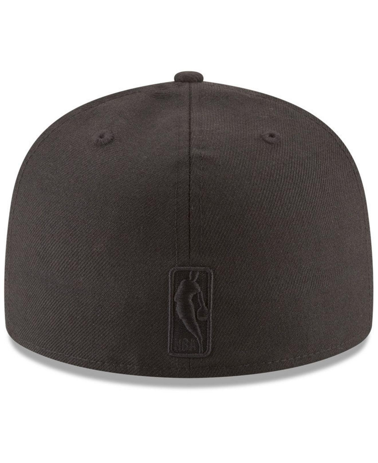 buy popular 568ff 19e38 ... new zealand lyst ktz los angeles lakers blackout 59fifty fitted cap in  black e9de8 c8393