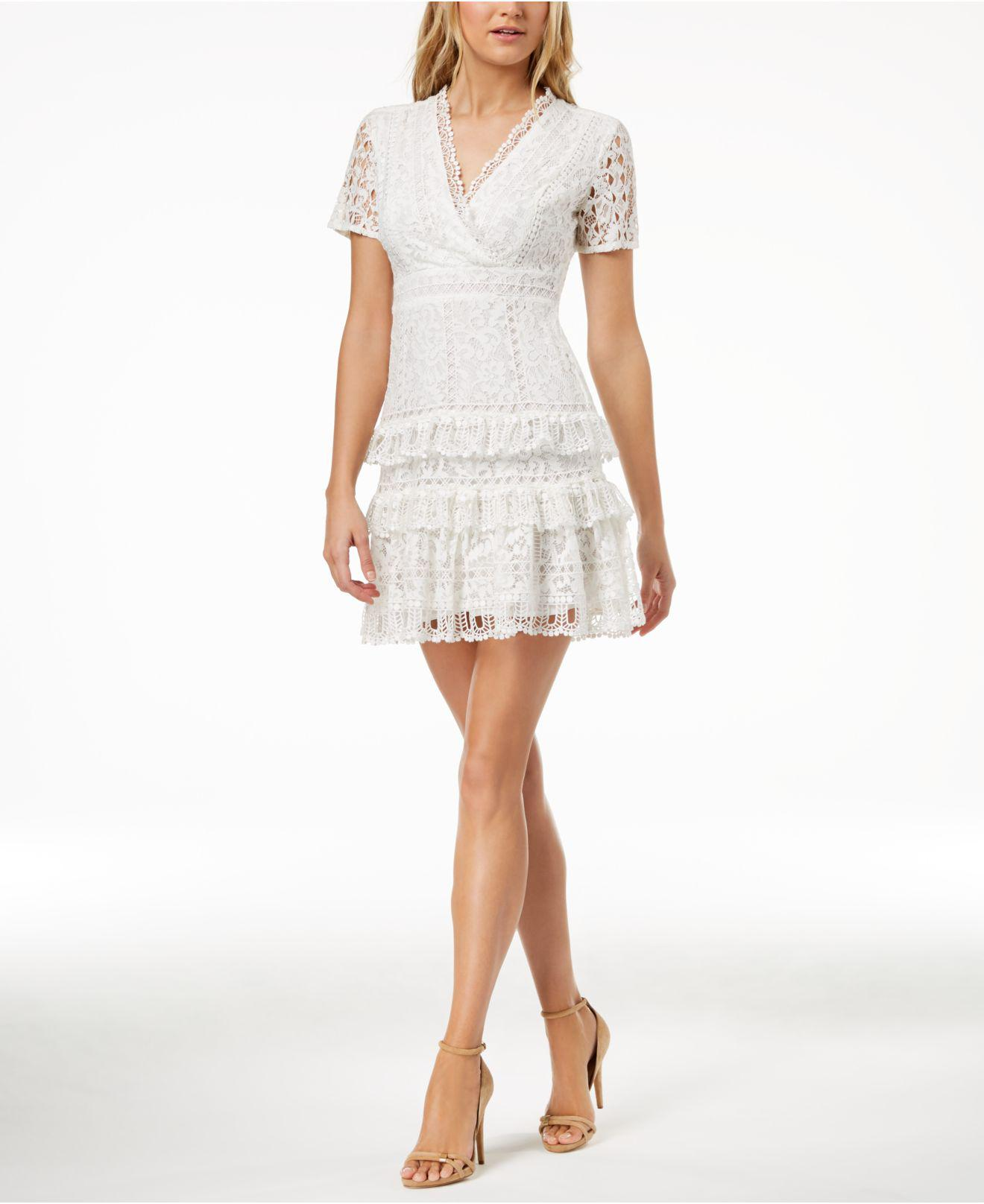 Lyst French Connection Arta Tiered Lace Dress In White