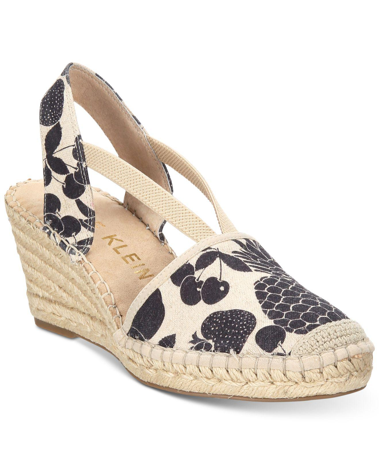 4053378a3cb0 Lyst - Anne Klein Abbey Espadrille Platform Wedge Sandals