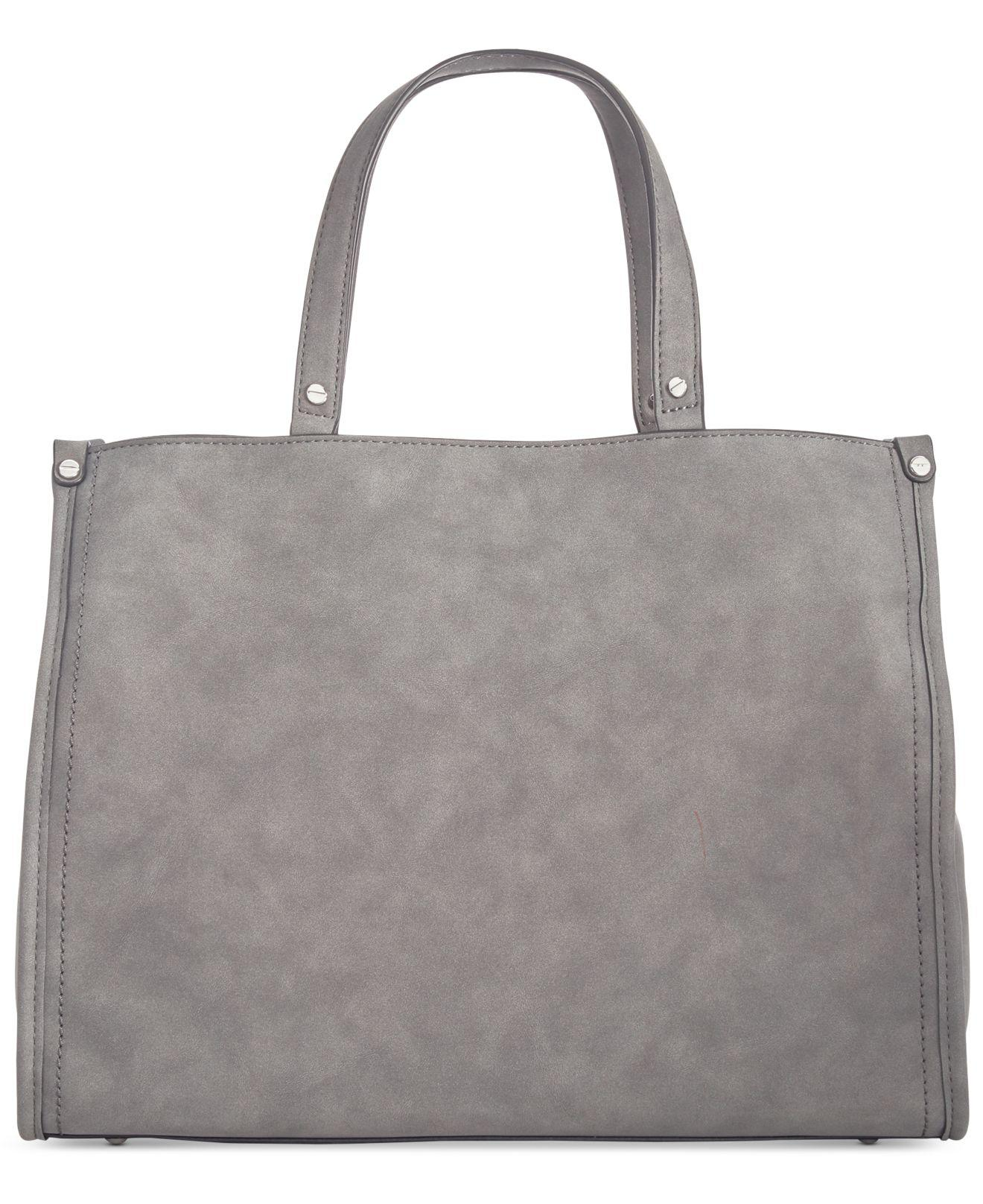 cd30c315dac2 INC International Concepts Remmey Thand Large Satchel in Gray - Lyst