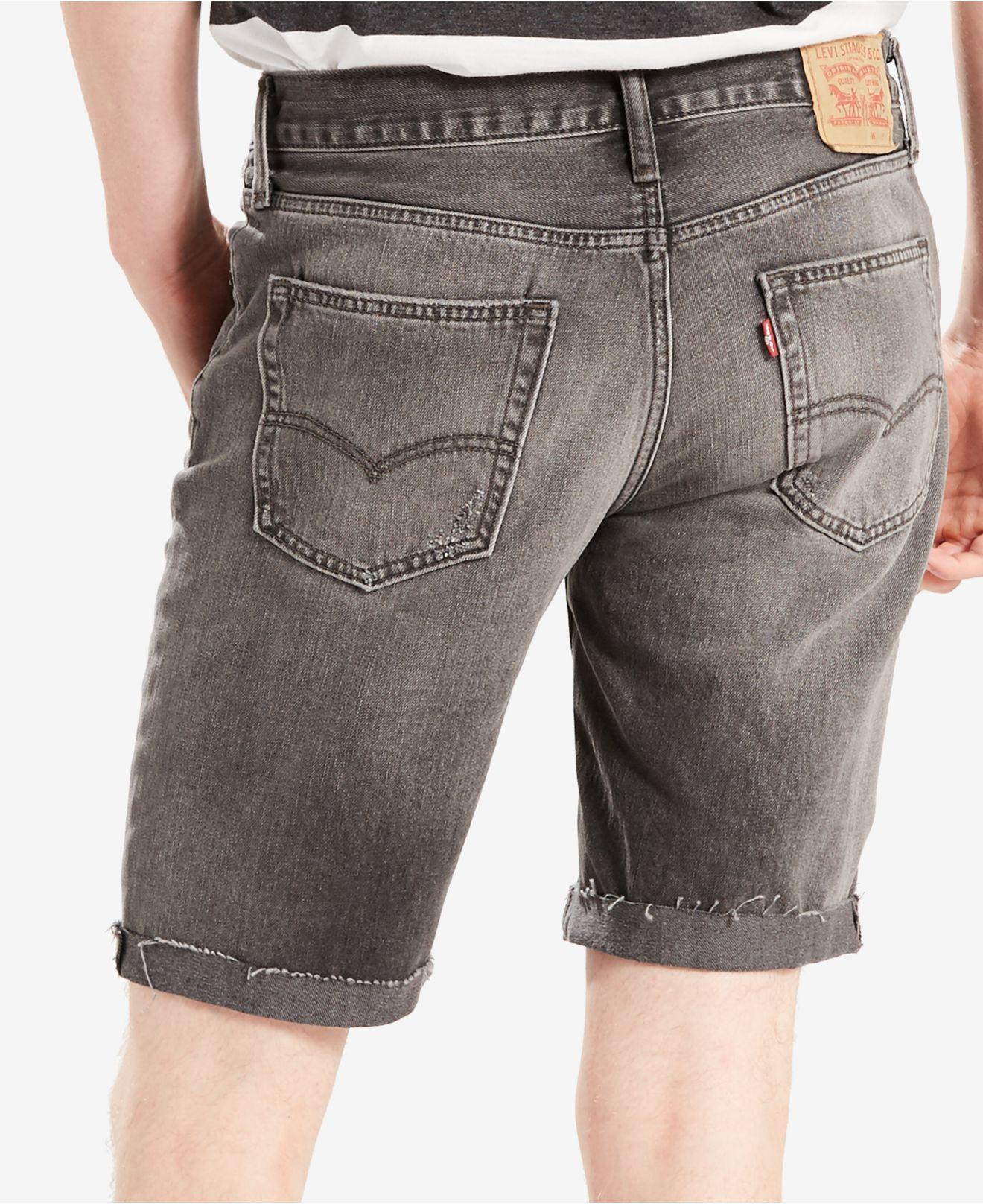 3e3551a6 Levi's Men's 511 Slim-fit Cutoff Jean Shorts in Gray for Men - Lyst