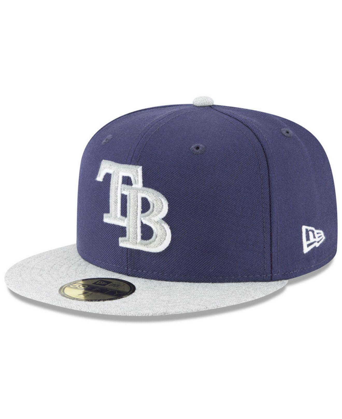 new style 545e7 09cae KTZ. Men s Blue Tampa Bay Rays Pop Color 59fifty Fitted Cap