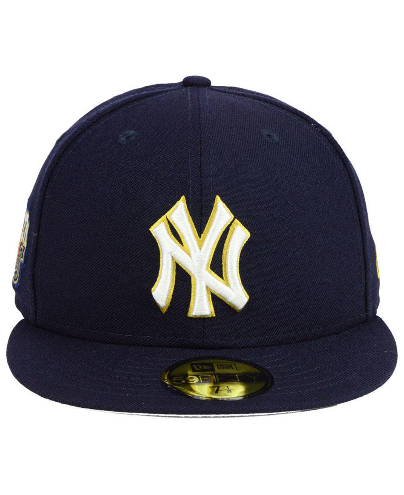 premium selection 3d125 b02f6 ... low cost lyst ktz new york yankees trophy patch 59fifty fitted cap in  blue for men