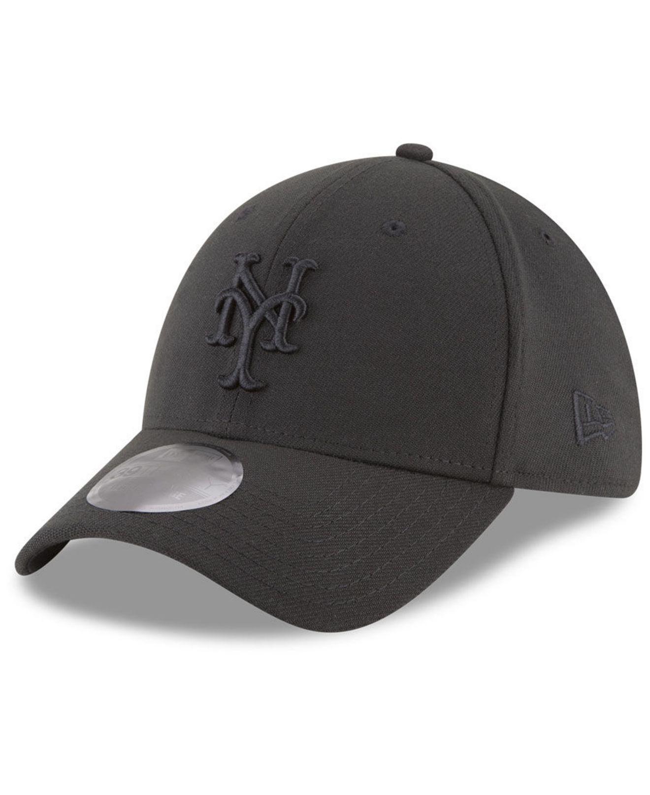 info for 98d53 1f93c KTZ - New York Mets Blackout 39thirty Cap for Men - Lyst. View fullscreen