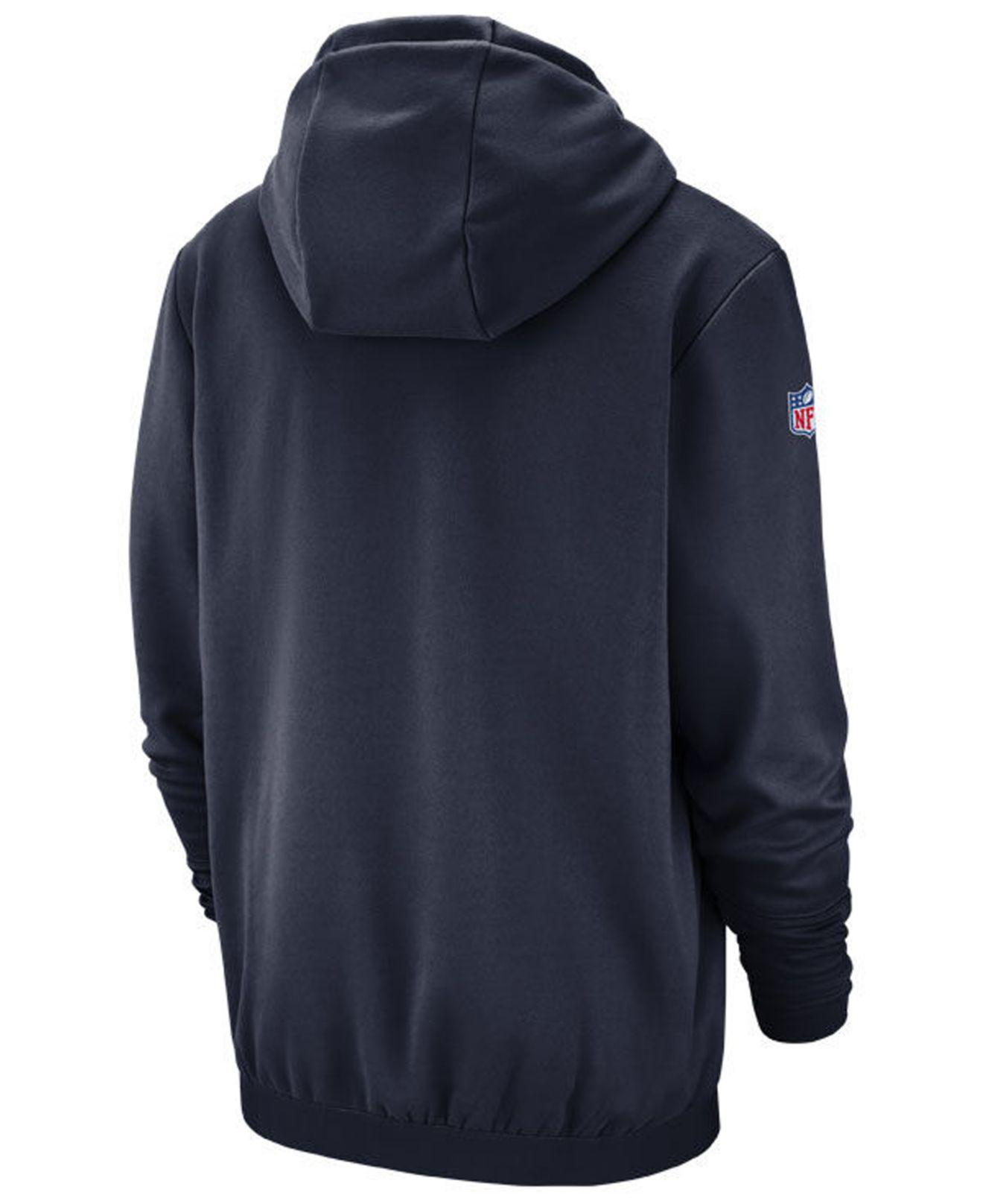 e16abe600 Lyst - Nike Seattle Seahawks Sideline Player Therma Hoodie in Blue for Men