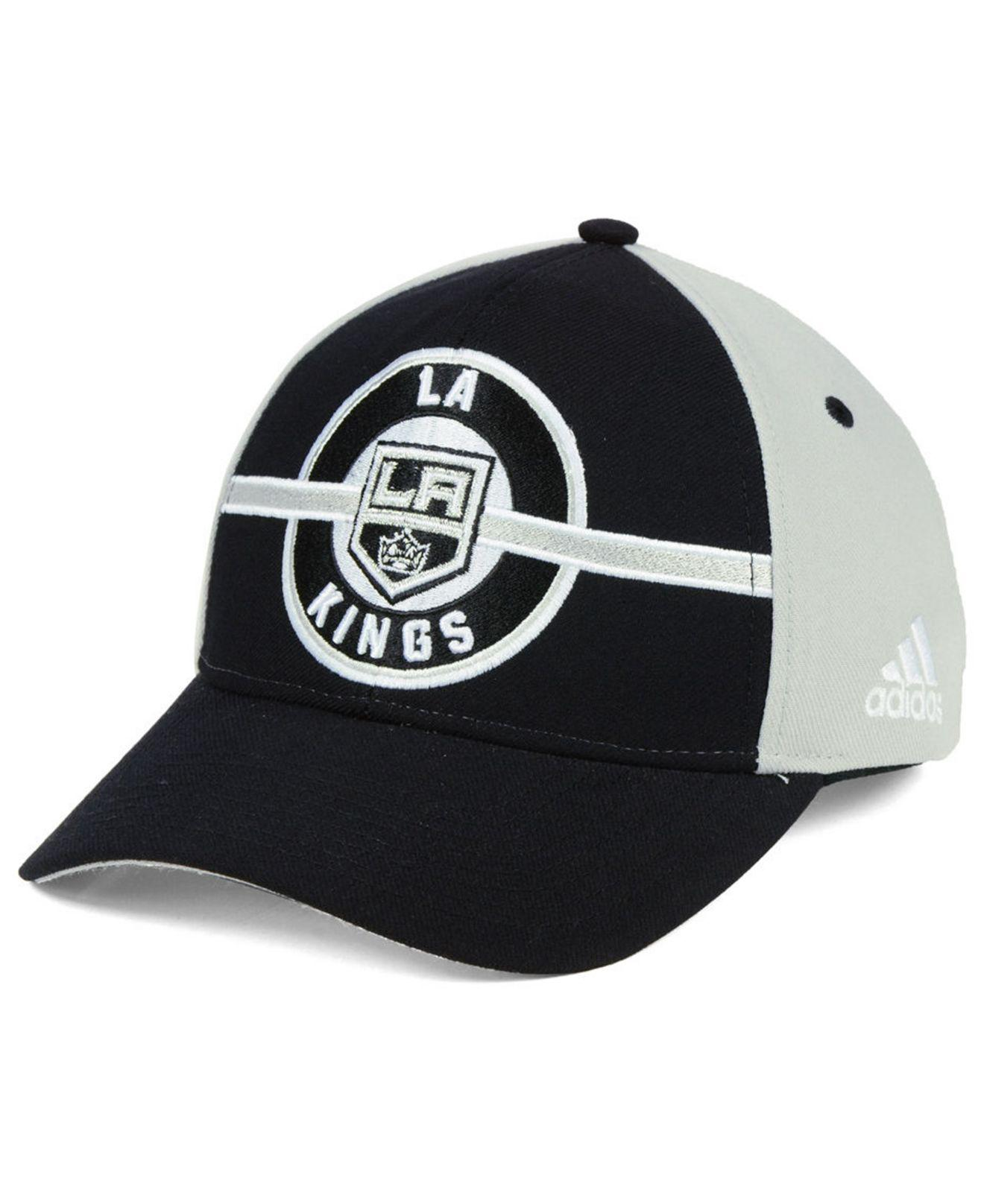 Lyst - Adidas Los Angeles Kings Circle Adjustable Cap in Black for Men 5a18c681d