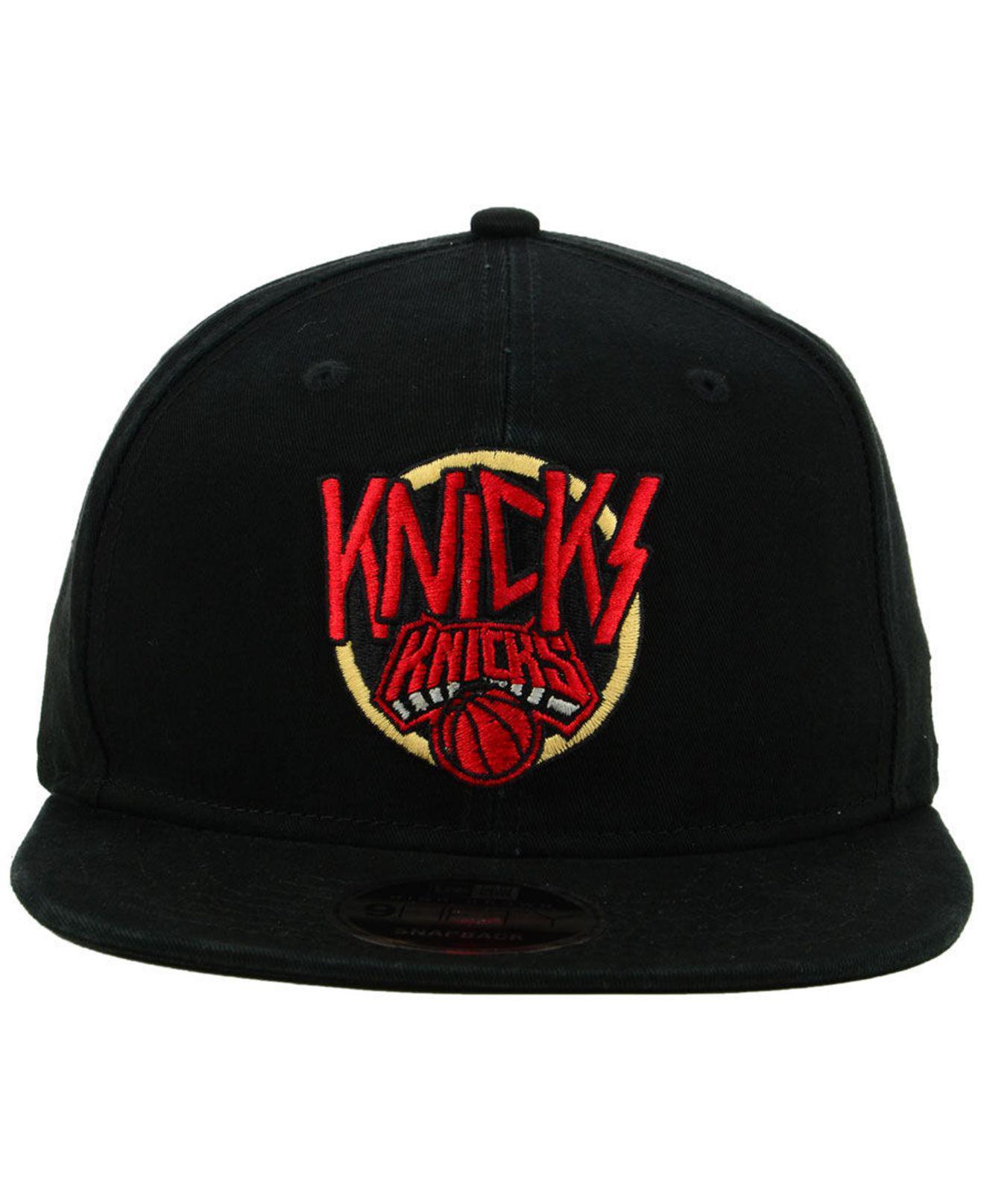 brand new f1709 61f69 KTZ New York Knicks 90s Throwback Tour 9fifty Snapback Cap in Black ...