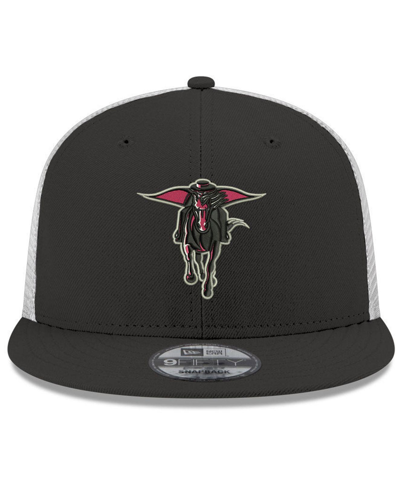 newest f40b8 8602c ... czech ktz. mens black texas tech red raiders tc meshback snapback cap  7e100 62af4