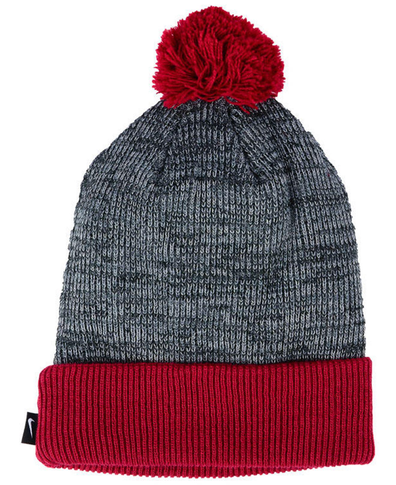 70fe25d0378 Lyst - Nike Heather Pom Knit Hat