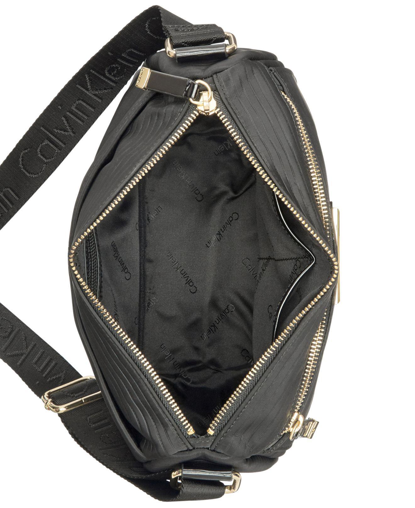 Lyst - Calvin Klein Rippled Small Crossbody in Black df5b0869af