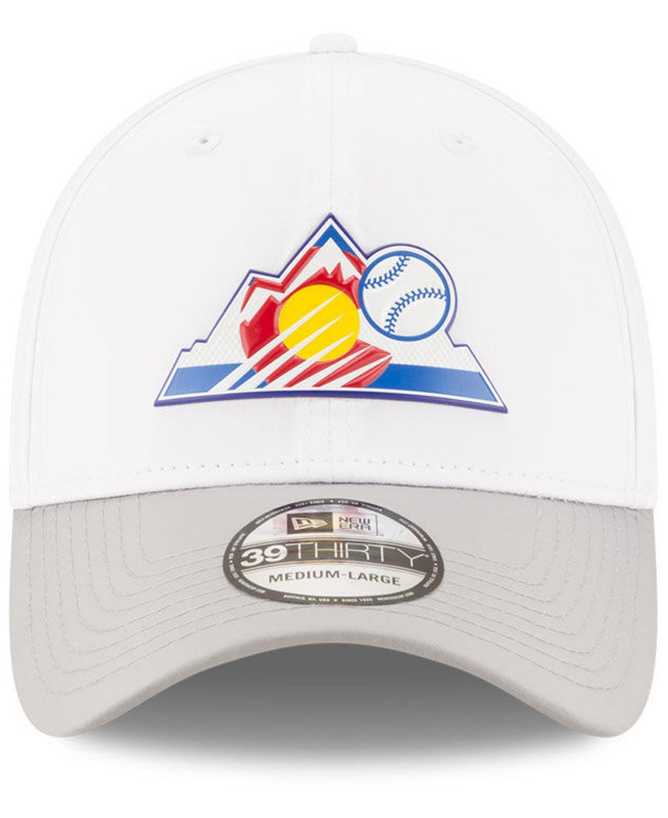 brand new a4613 4454c ... best lyst ktz colorado rockies white batting practice 39thirty cap in  white for men d906e a44d4