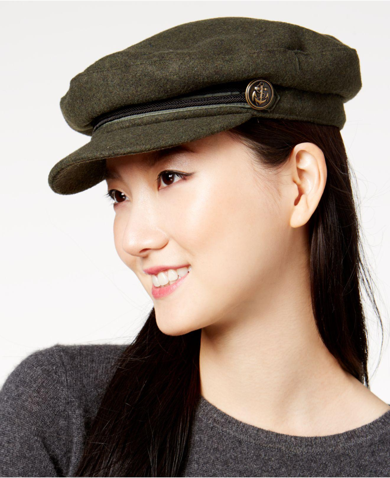 3457cf2a828 Lyst - Vince Camuto Sailor s Newsboy Cap in Black