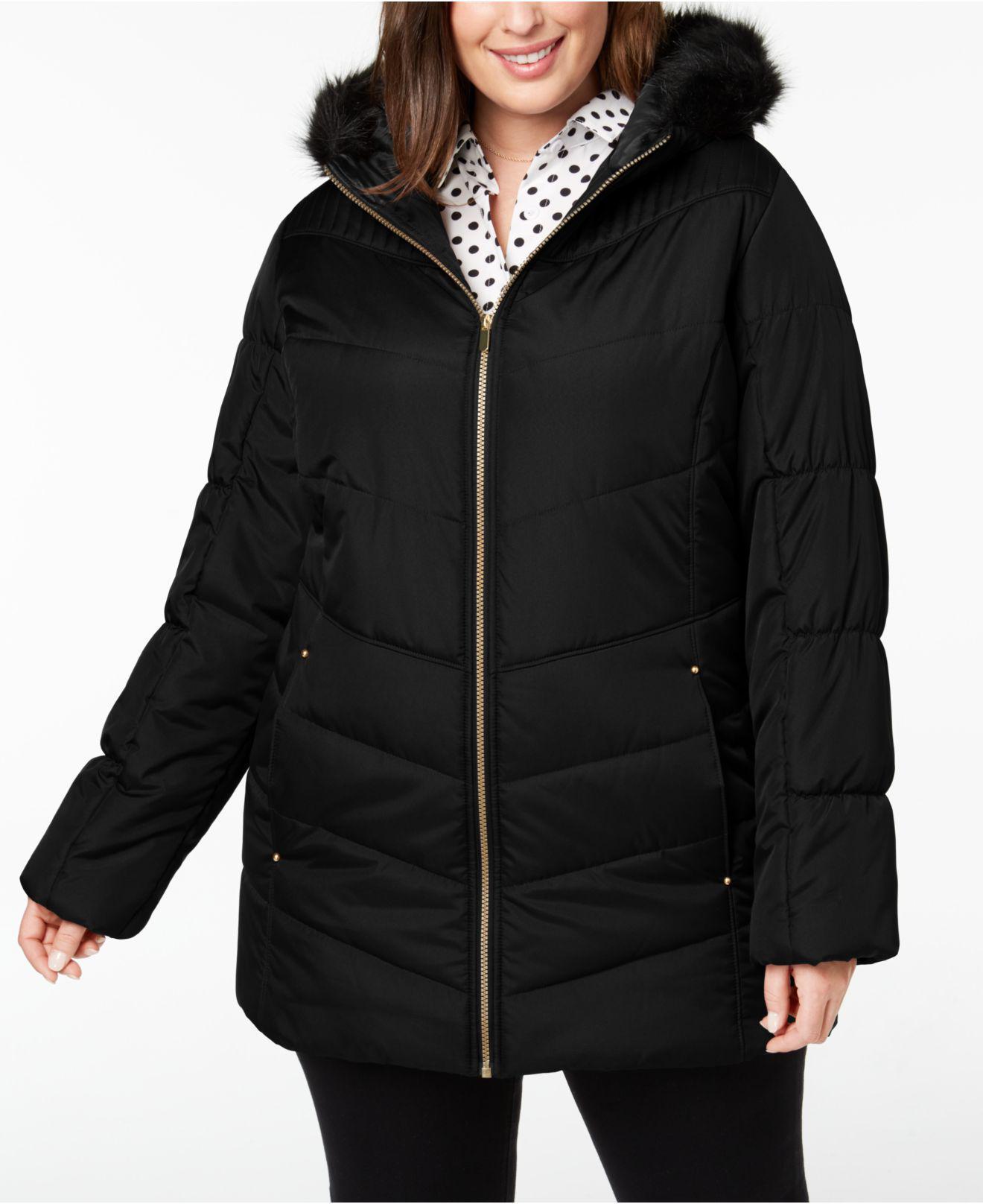 11bf939da30 Lyst - Celebrity Pink Juniors  Plus Size Faux-fur-trim Puffer Coat ...