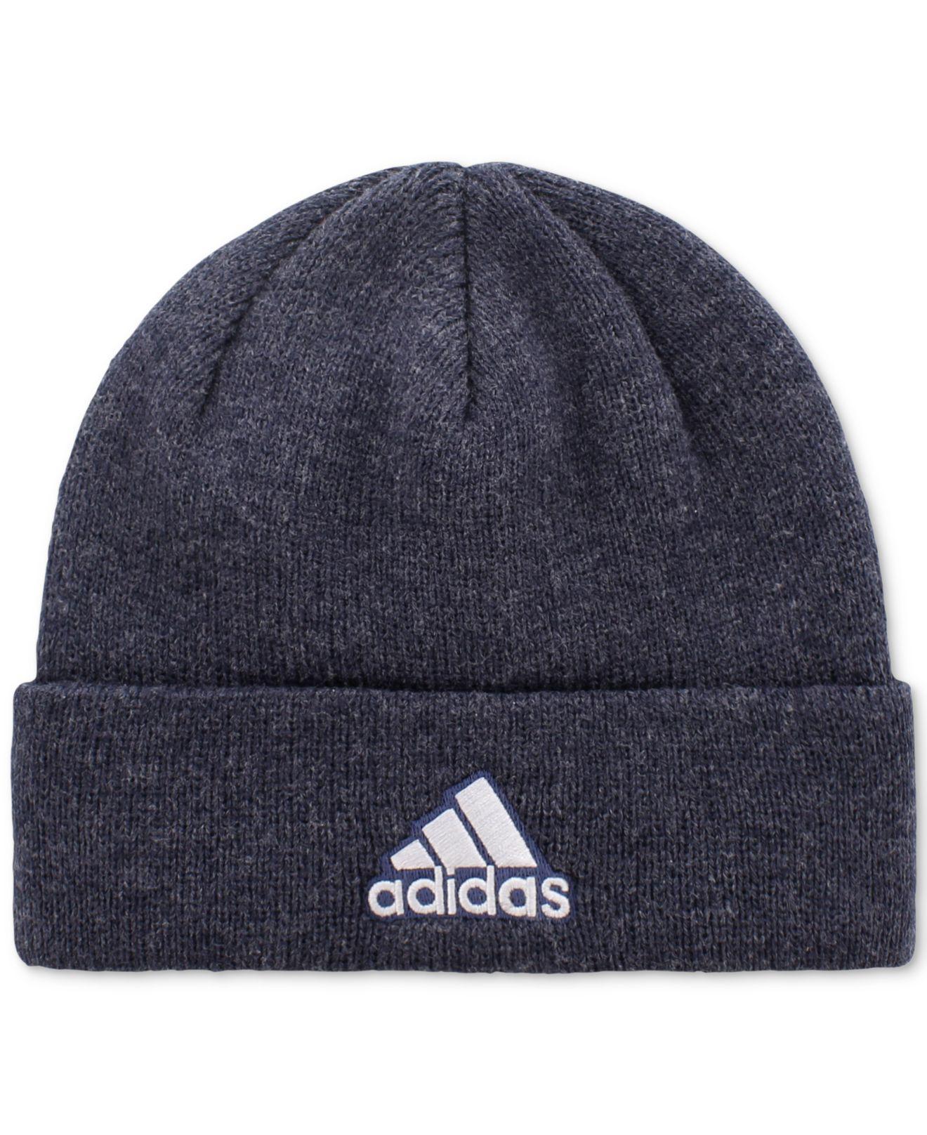 055a854a996 Adidas - Blue Team Issue Cuffed Beanie for Men - Lyst. View fullscreen