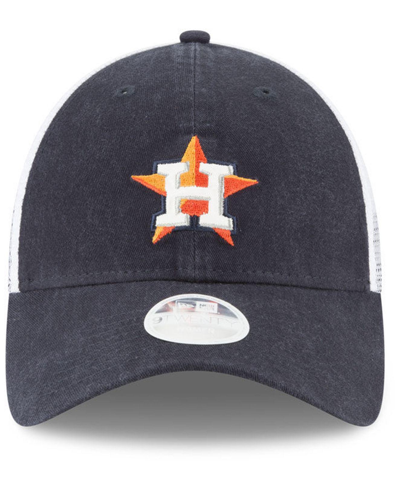 c5ce7654b5c ... best lyst ktz houston astros trucker shine 9twenty cap in blue for men  e46d6 d4c18